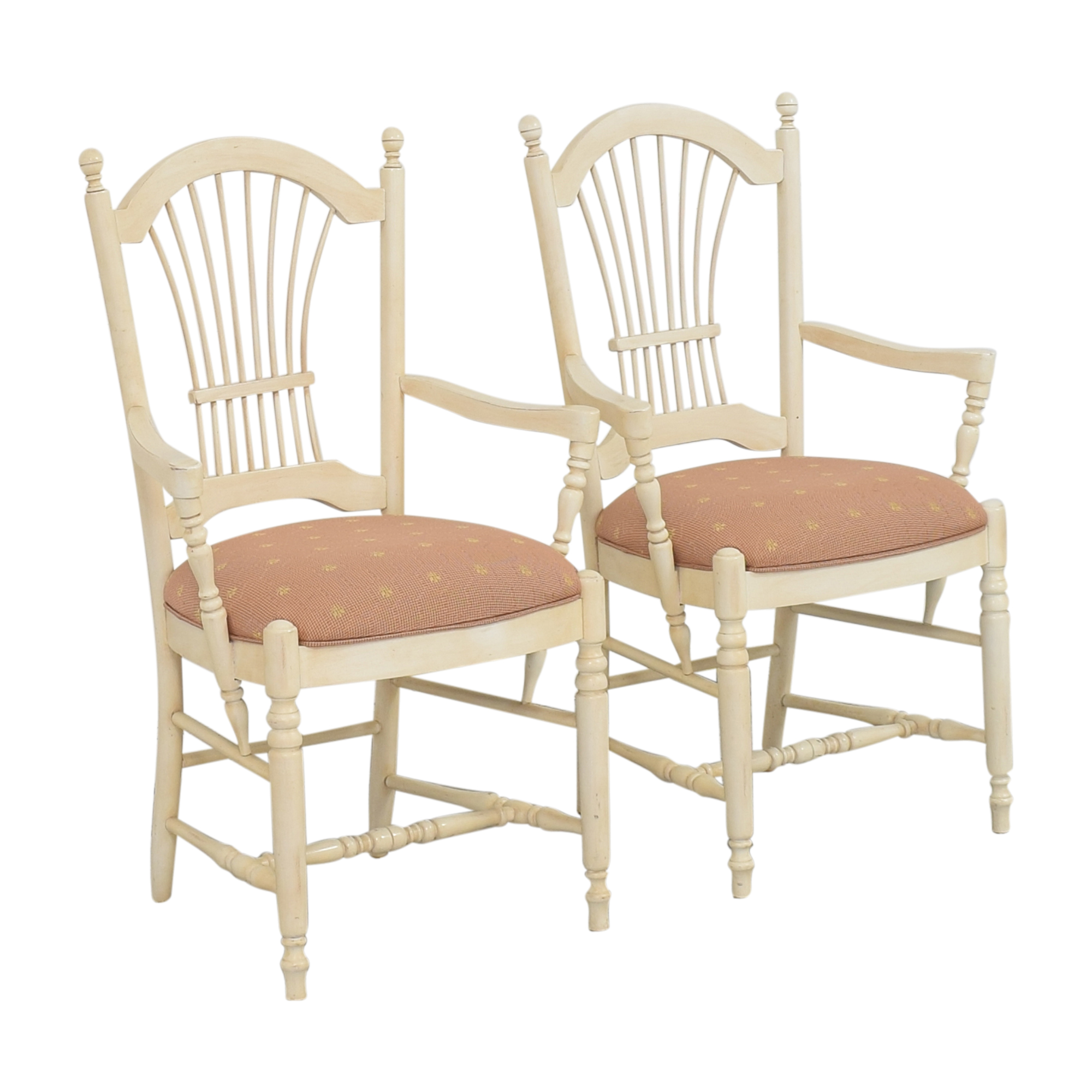 Ethan Allen Country French Dining Arm Chairs / Chairs