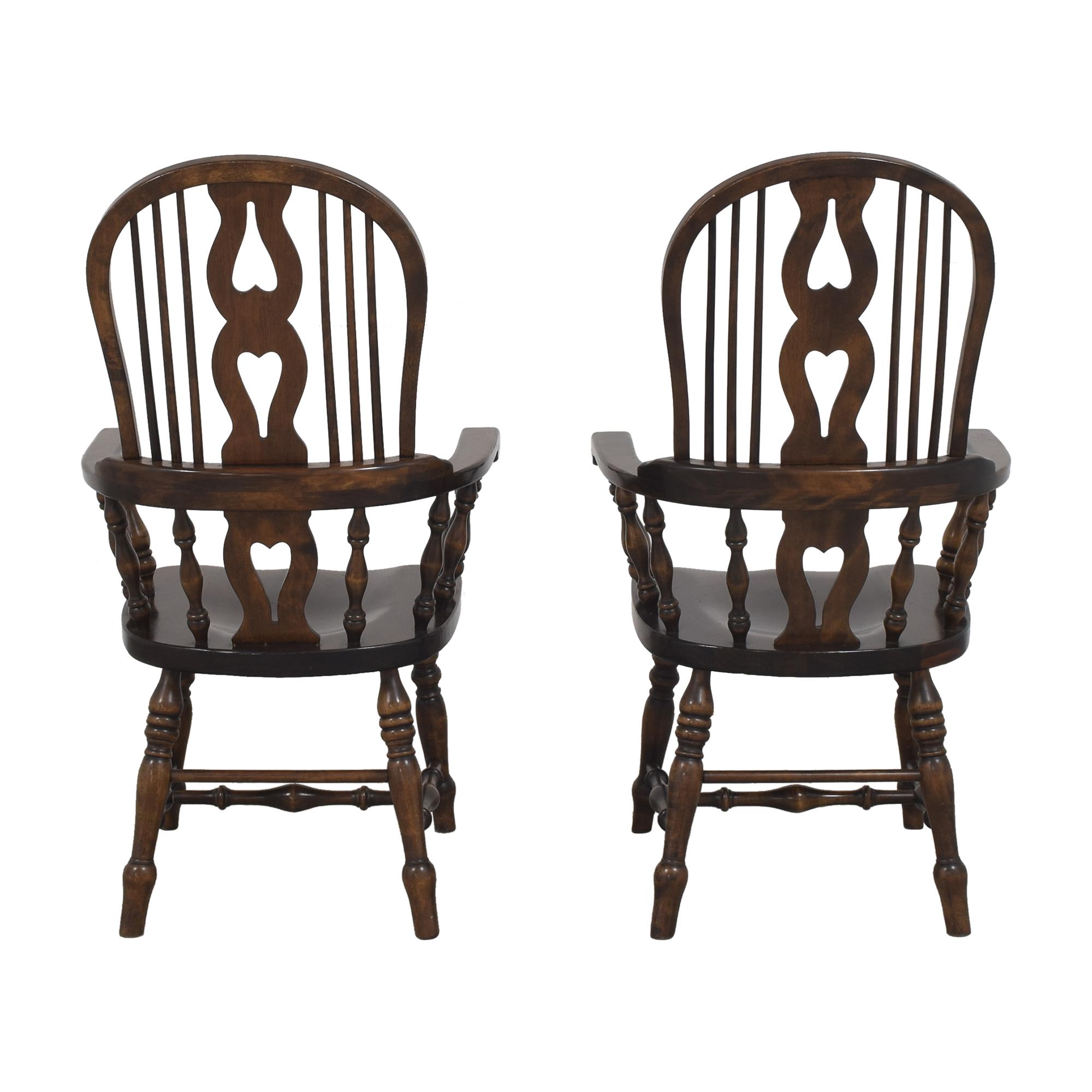 Bennington Pine Bennington Pine Vintage Windsor-Style Arm Chairs pa