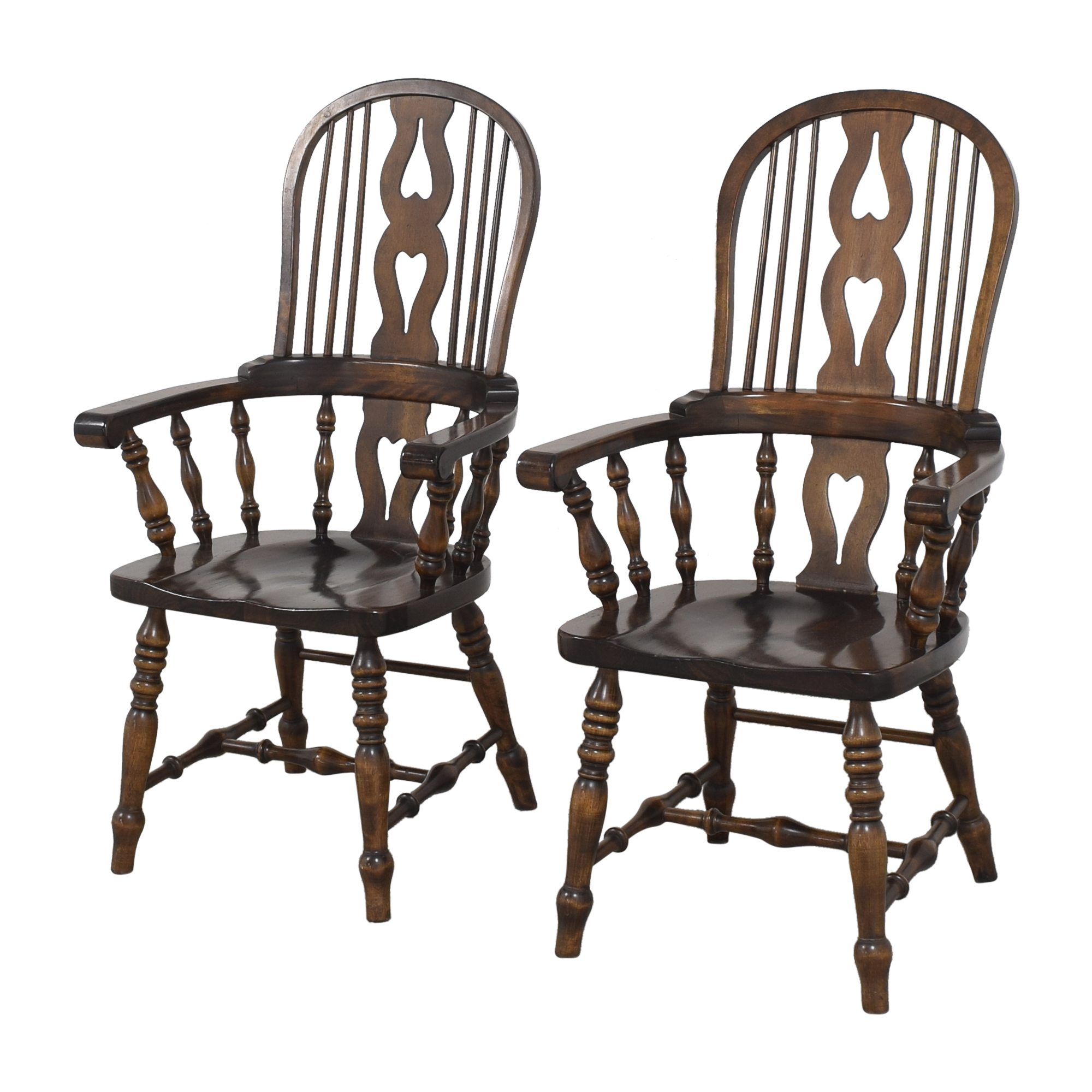 Bennington Pine Vintage Windsor-Style Arm Chairs Bennington Pine