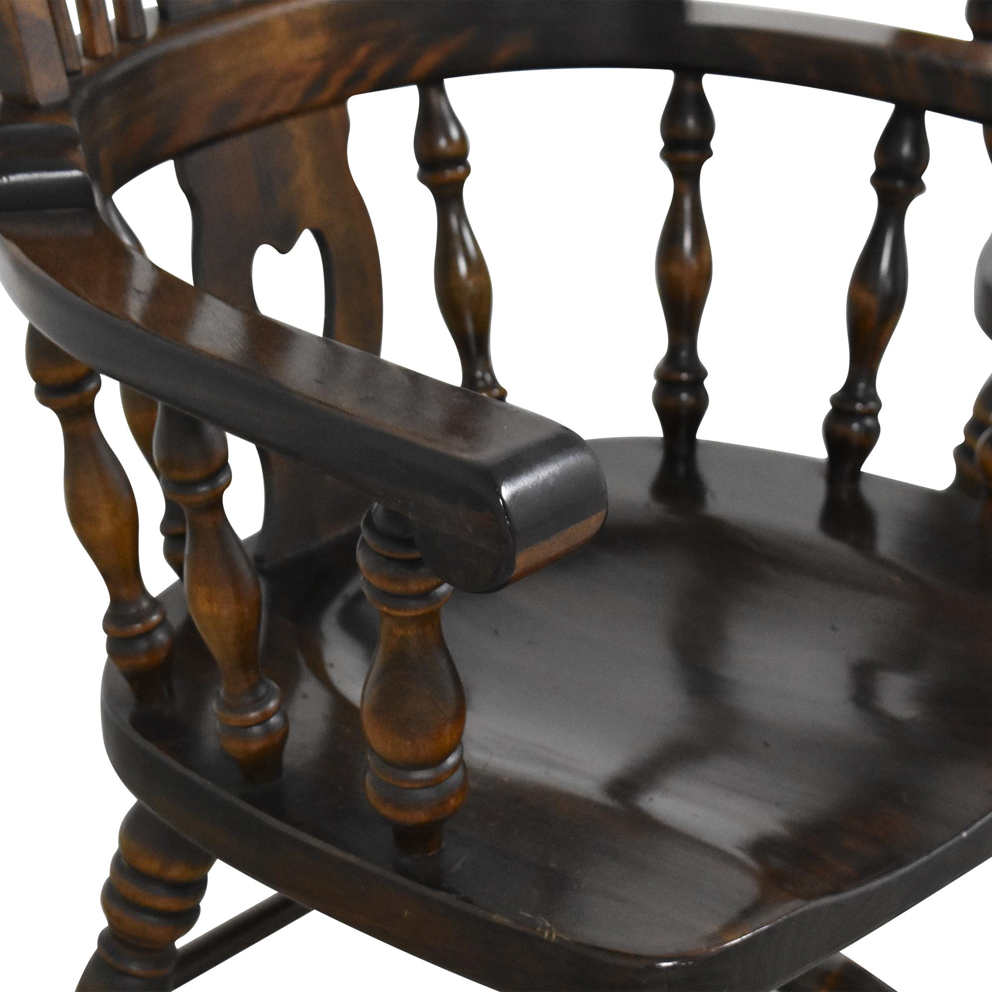 buy Bennington Pine Vintage Windsor-Style Arm Chairs Bennington Pine Chairs