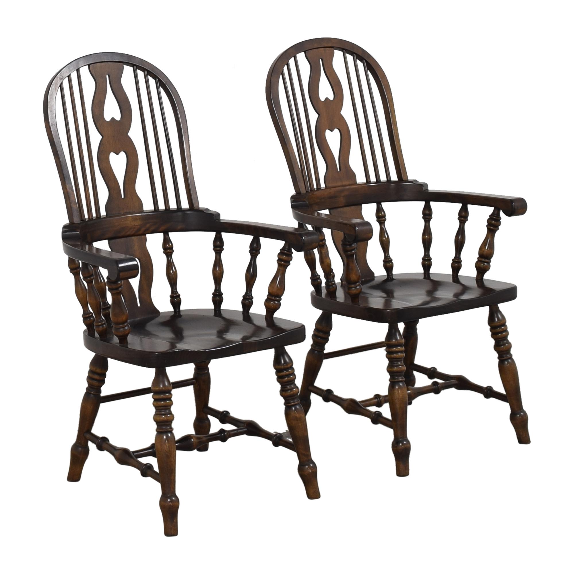 Bennington Pine Bennington Pine Vintage Windsor-Style Arm Chairs second hand