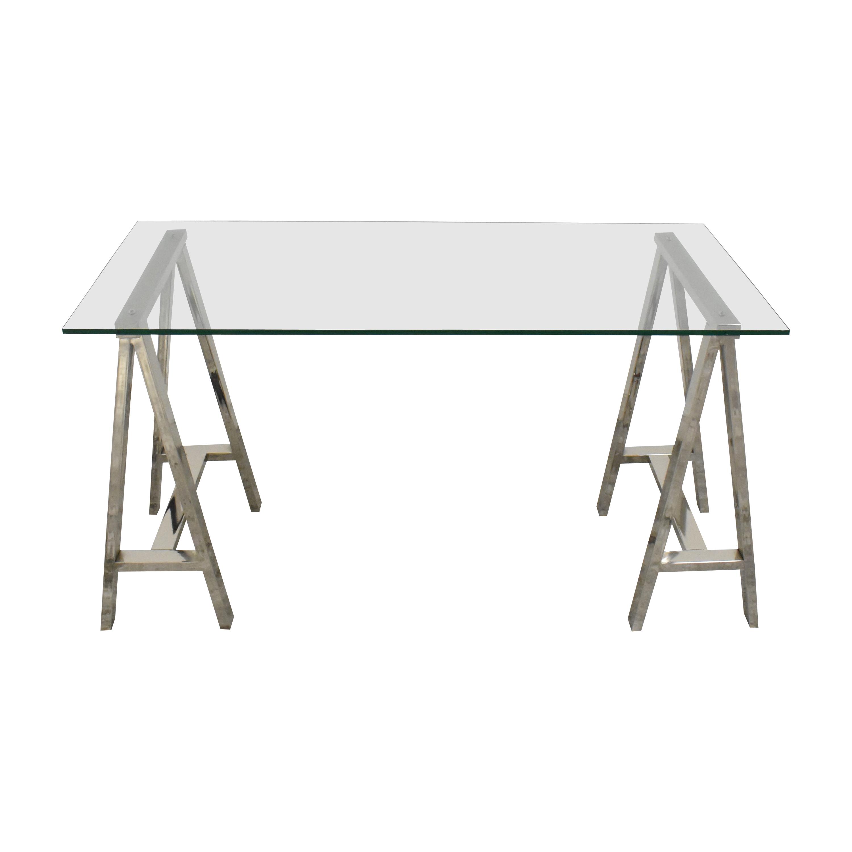 shop West Elm Cross Base Desk West Elm Tables