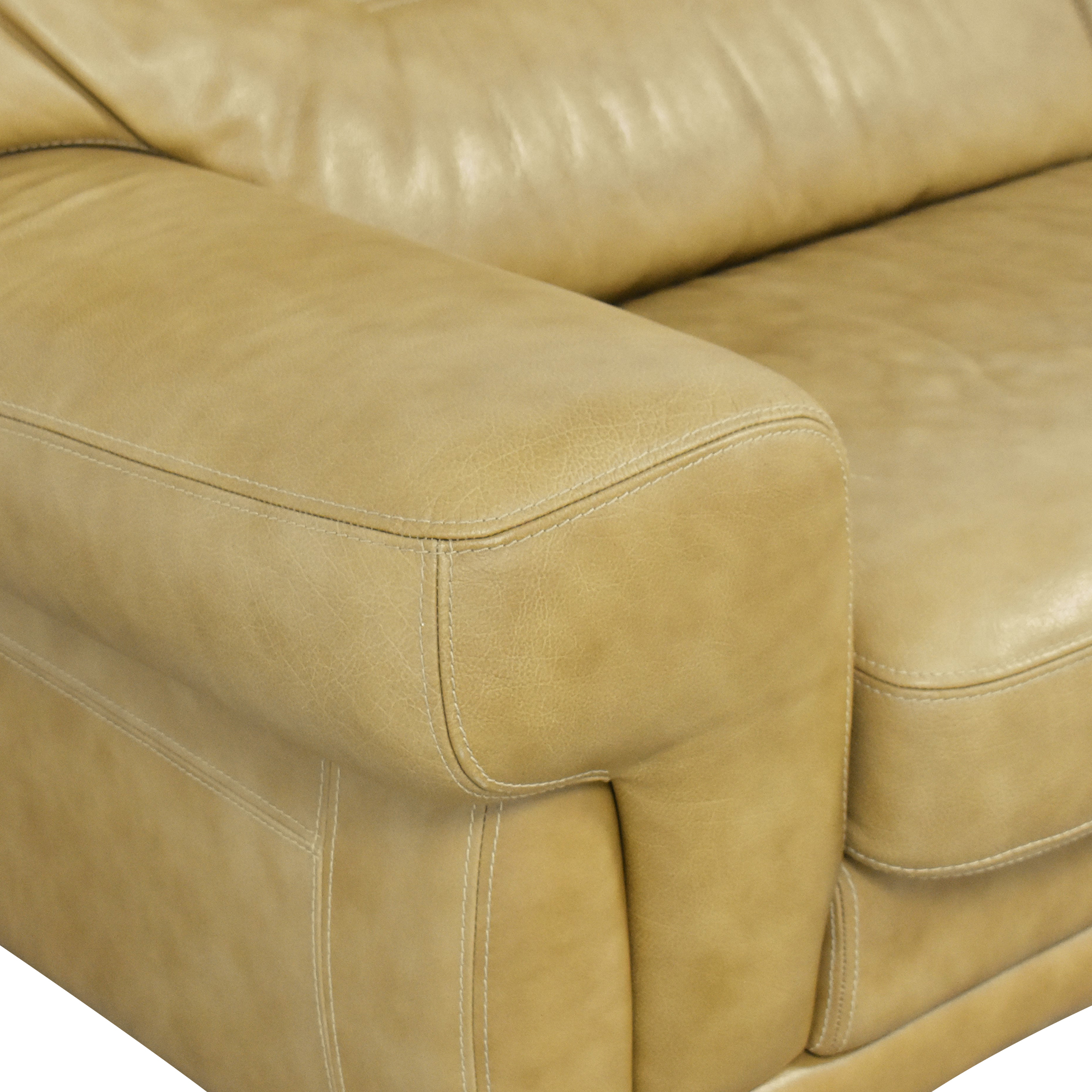 Formitalia Formitalia Two Cushion Sofa tan