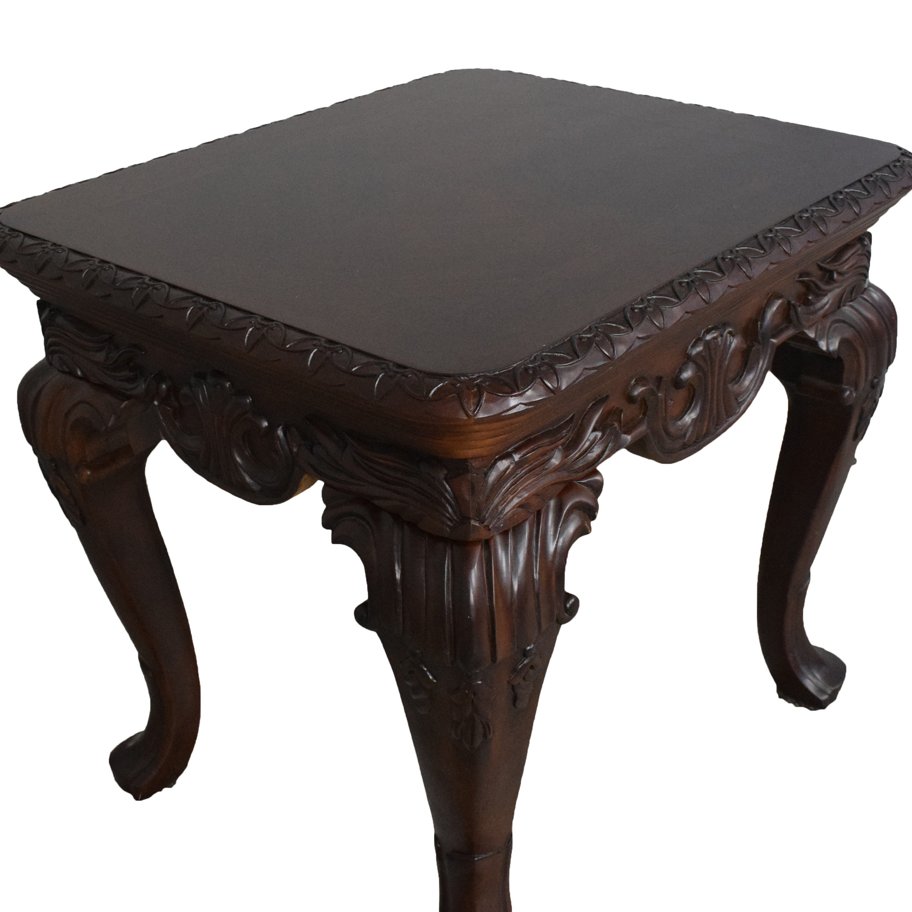 Thomasville Thomasville Carved Side Table brown