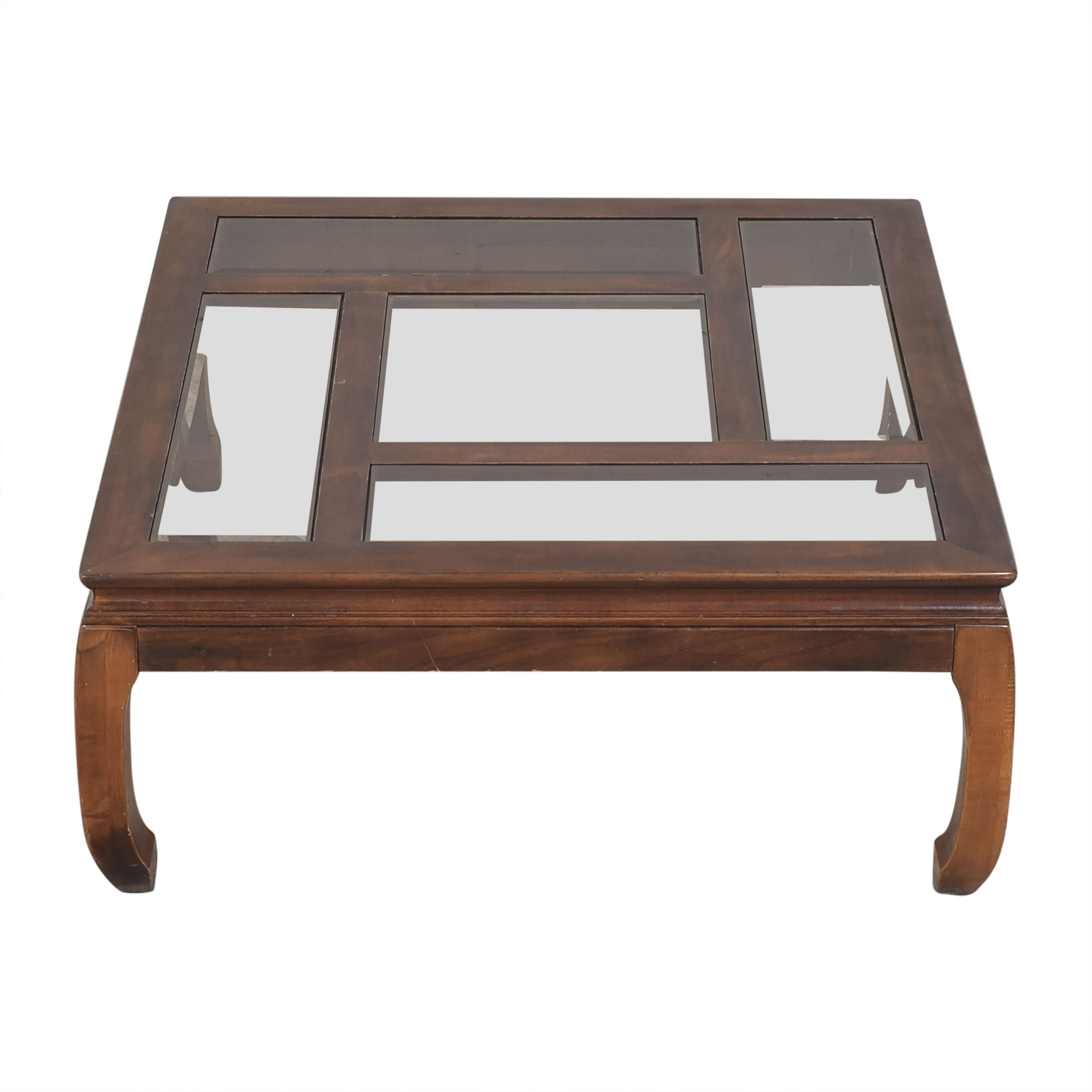Square Top Coffee Table brown