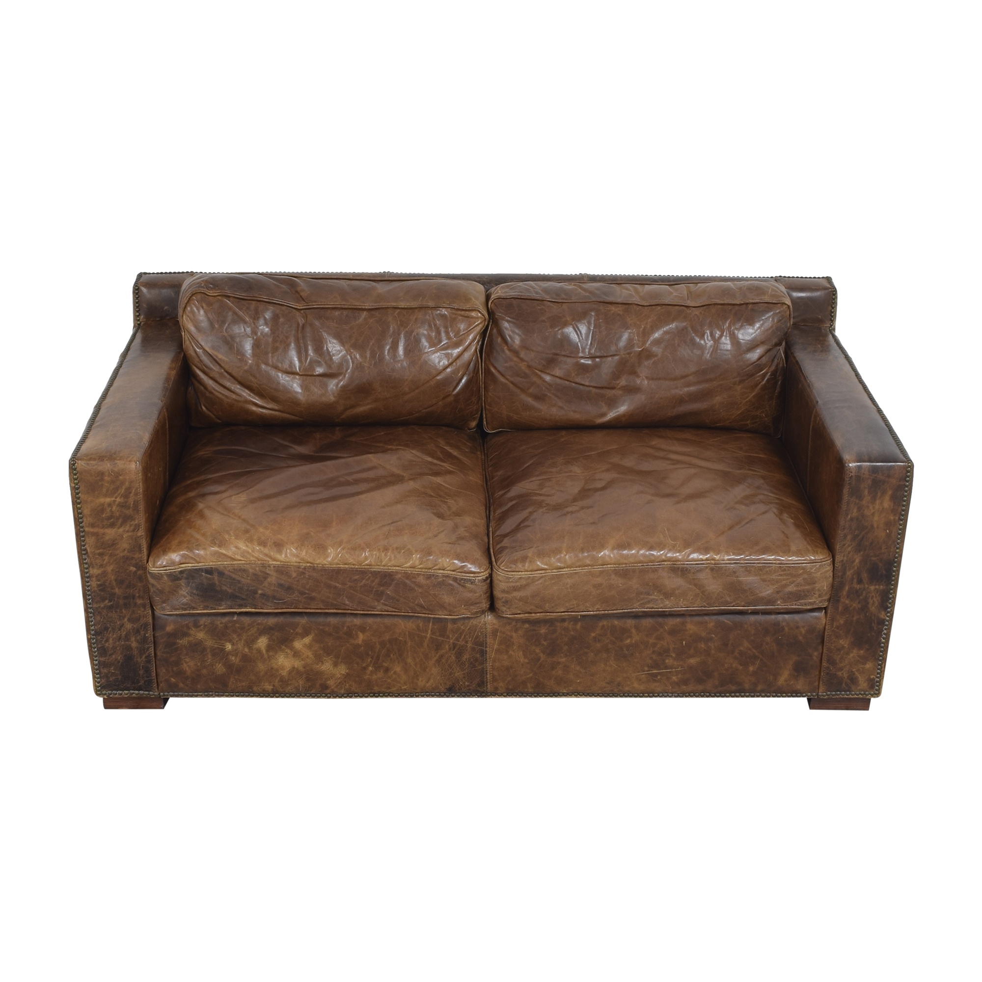 Restoration Hardware Restoration Hardware Collins Sofa with Nailheads dimensions