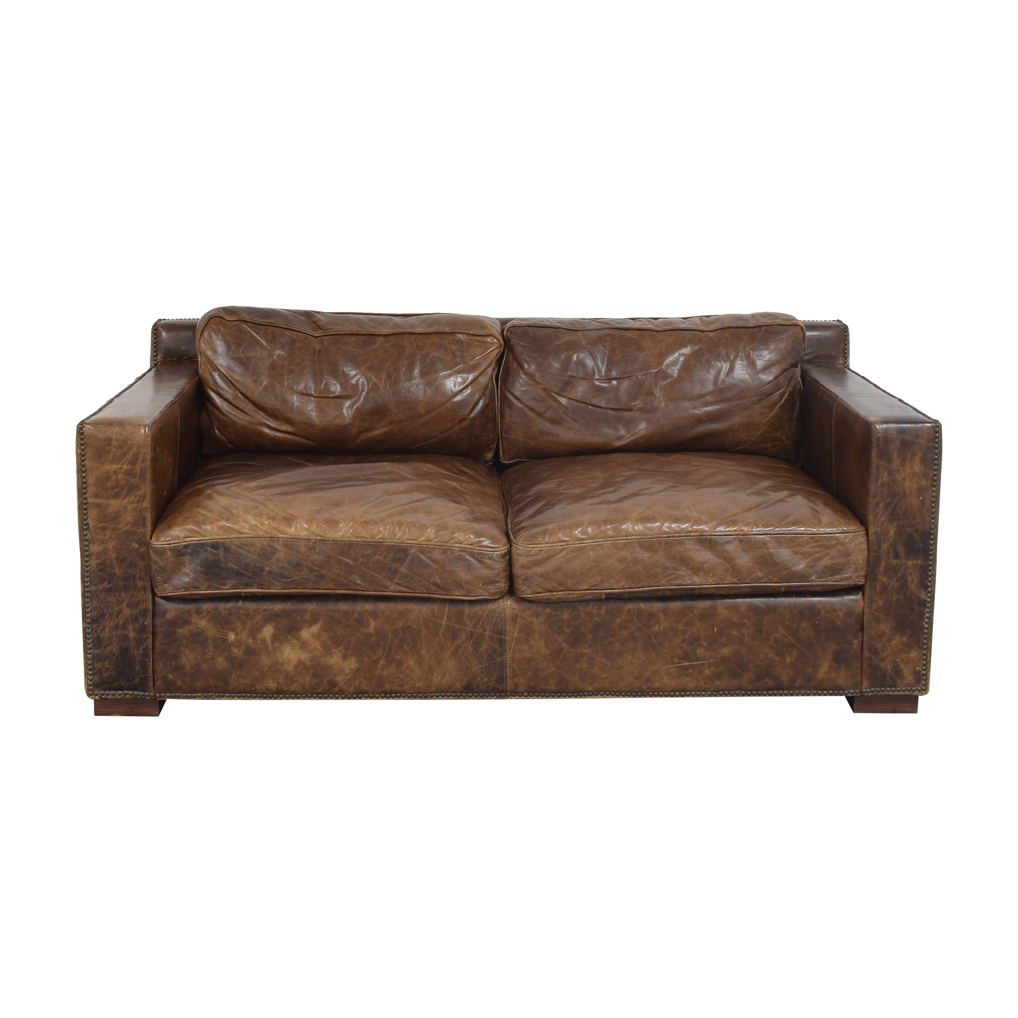 buy Restoration Hardware Collins Sofa with Nailheads Restoration Hardware Sofas