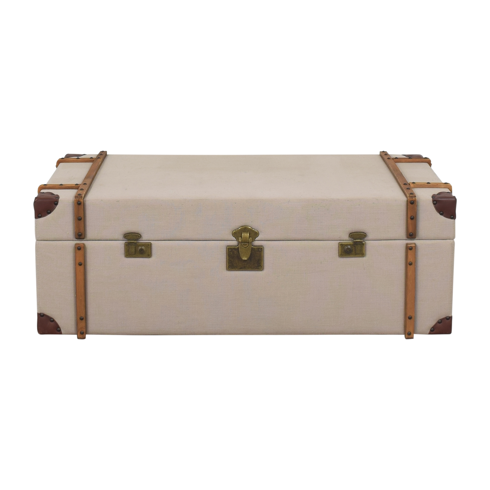 Overstock Overstock Journey Trunk Coffee Table beige and brown