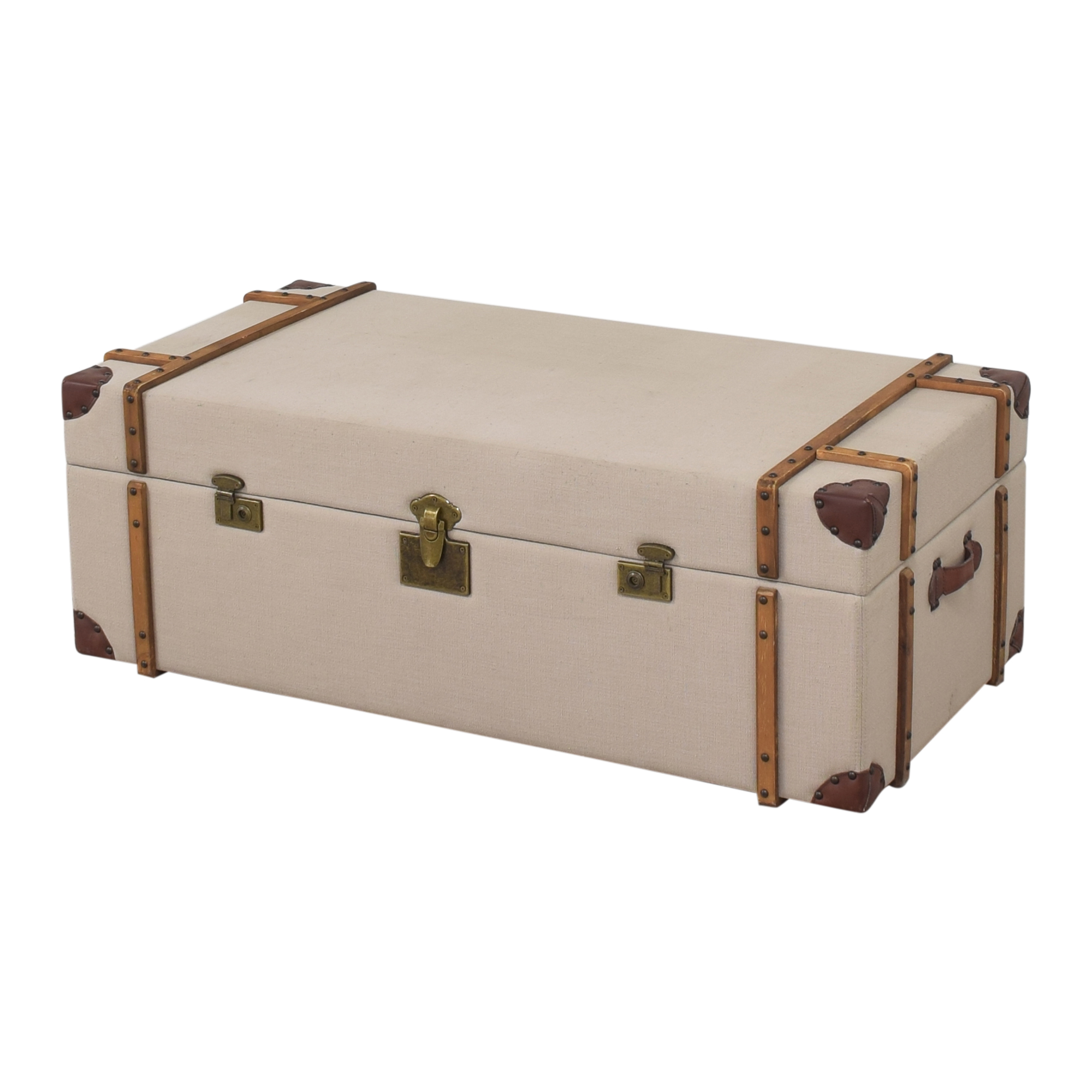 Overstock Overstock Journey Trunk Coffee Table second hand