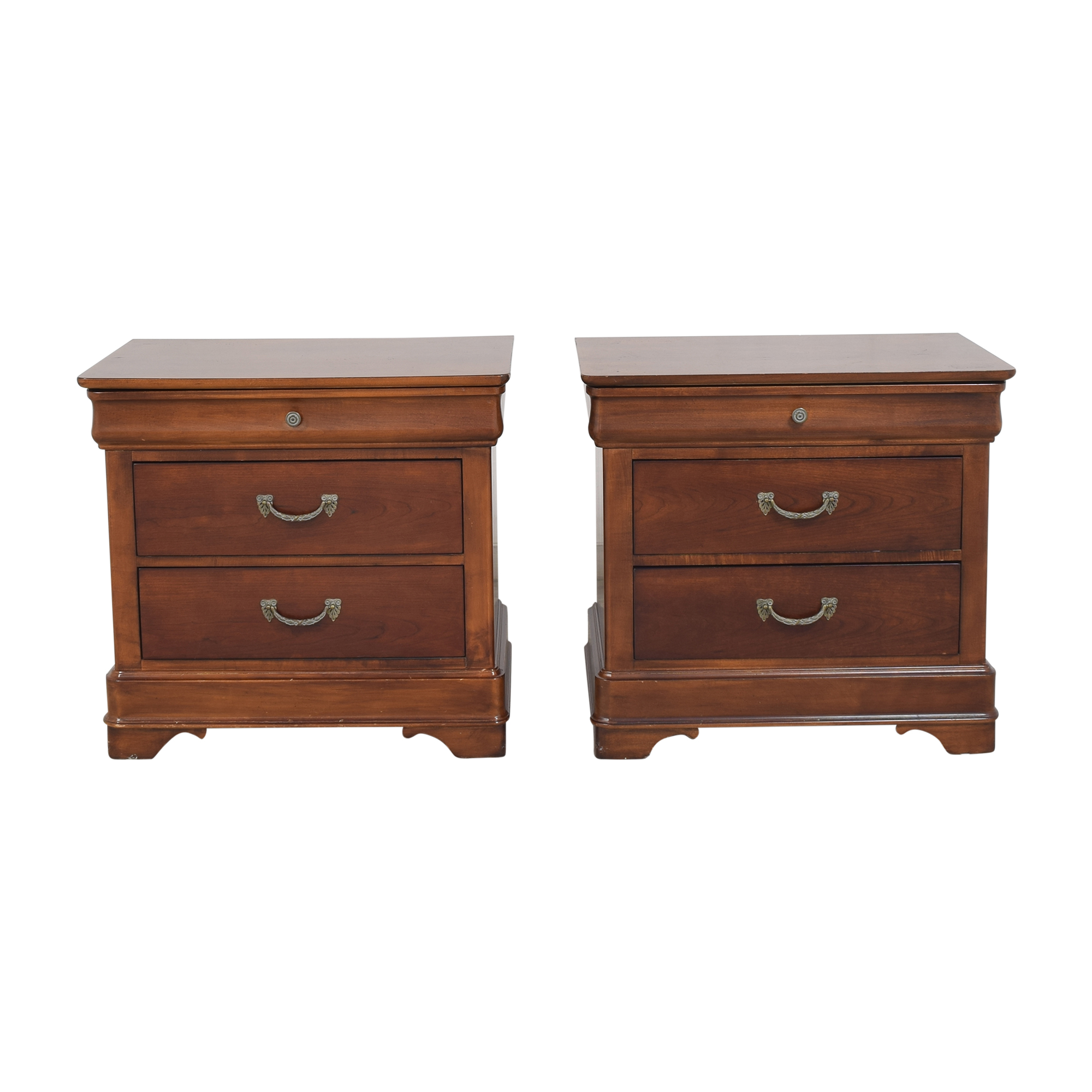 buy Drexel Heritage Delshire Three Drawer Nightstands Drexel Heritage Tables