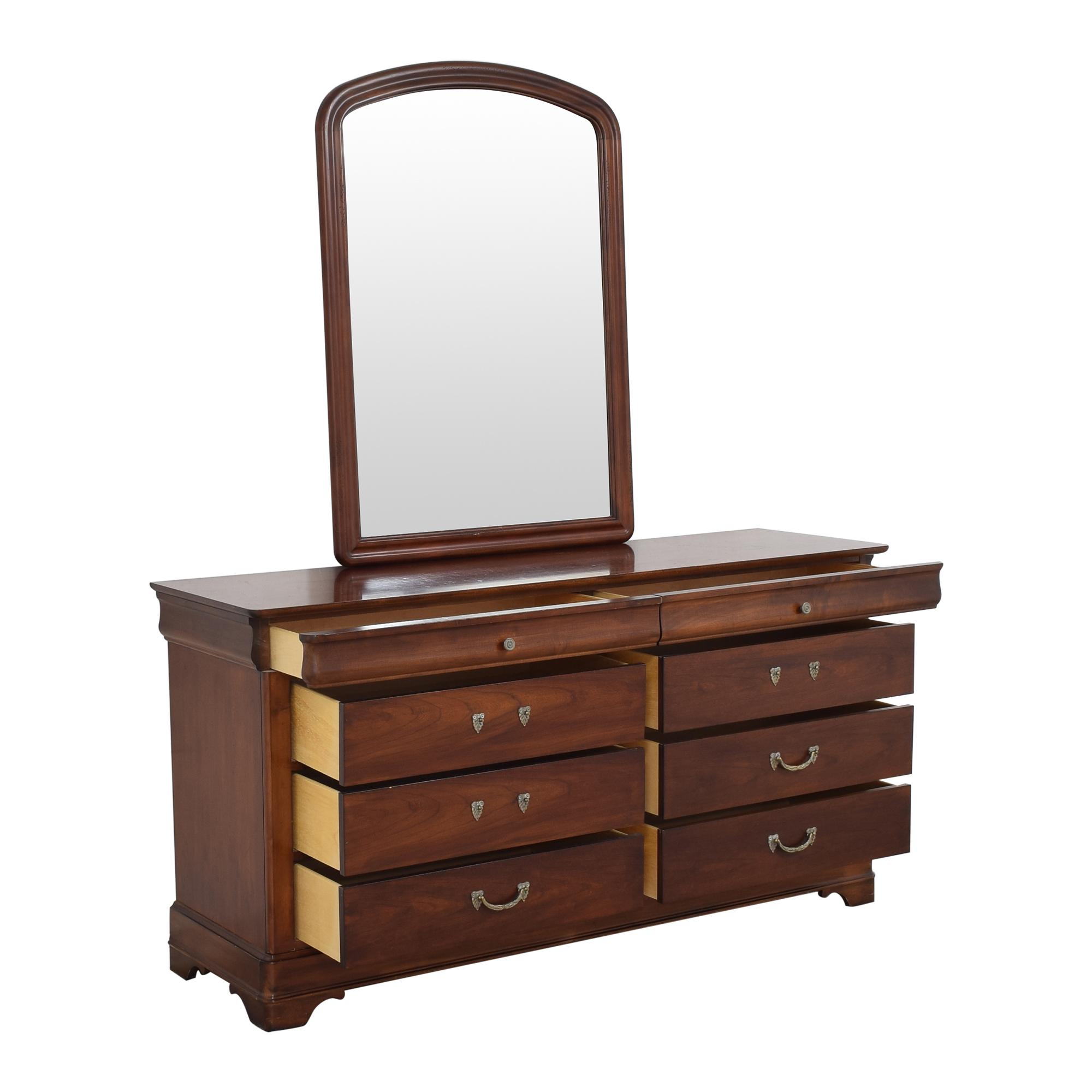 buy Drexel Heritage Delshire Double Dresser with Mirror Drexel Heritage Storage