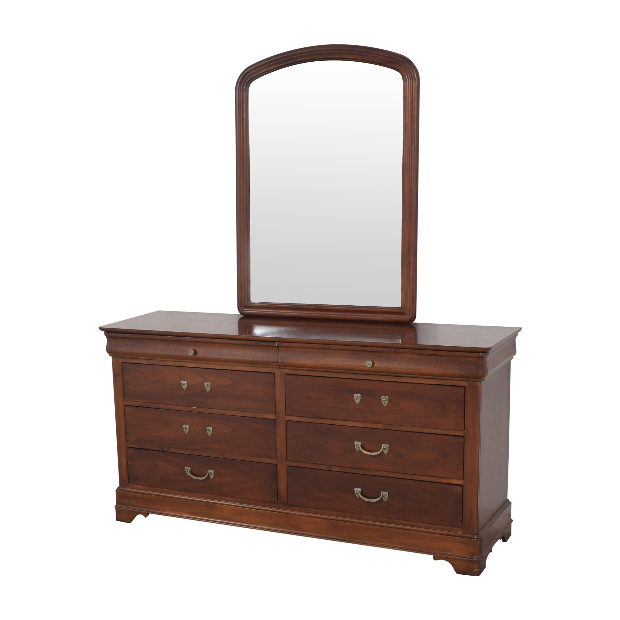 Drexel Heritage Drexel Heritage Delshire Double Dresser with Mirror dimensions