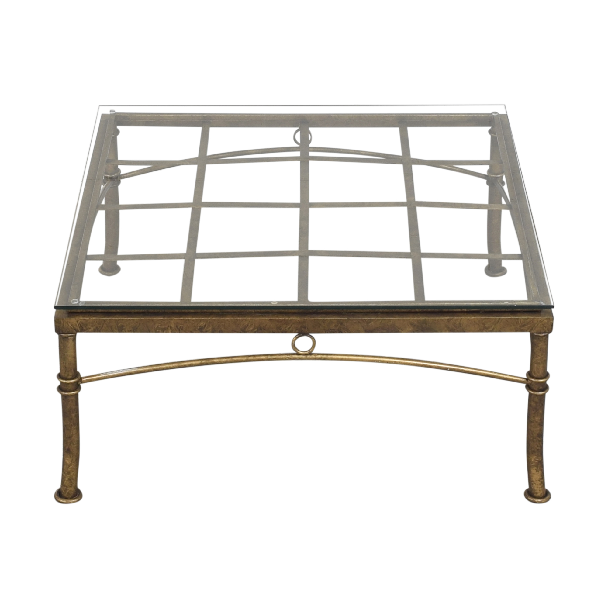 Square Coffee Table with Transparent Surface nj