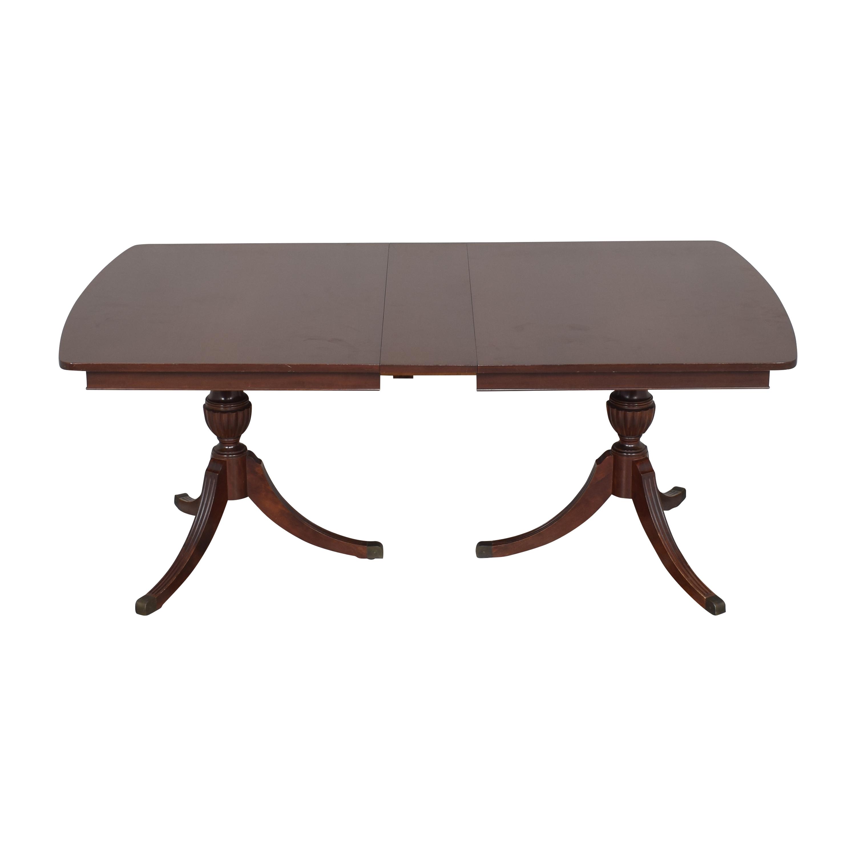 RWAY RWAY Double Pedestal Dining Table nj