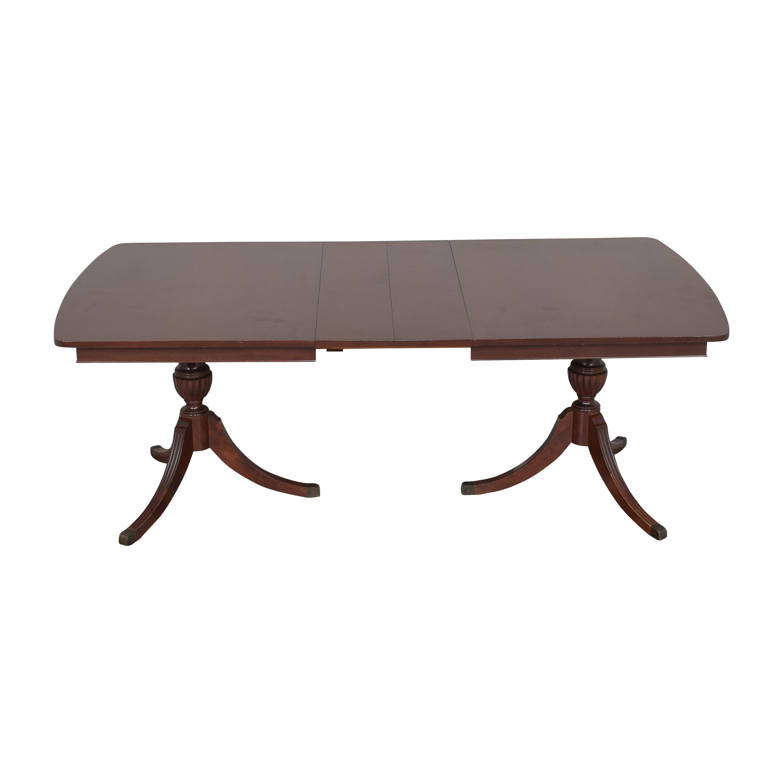 buy RWAY Double Pedestal Dining Table RWAY Dinner Tables