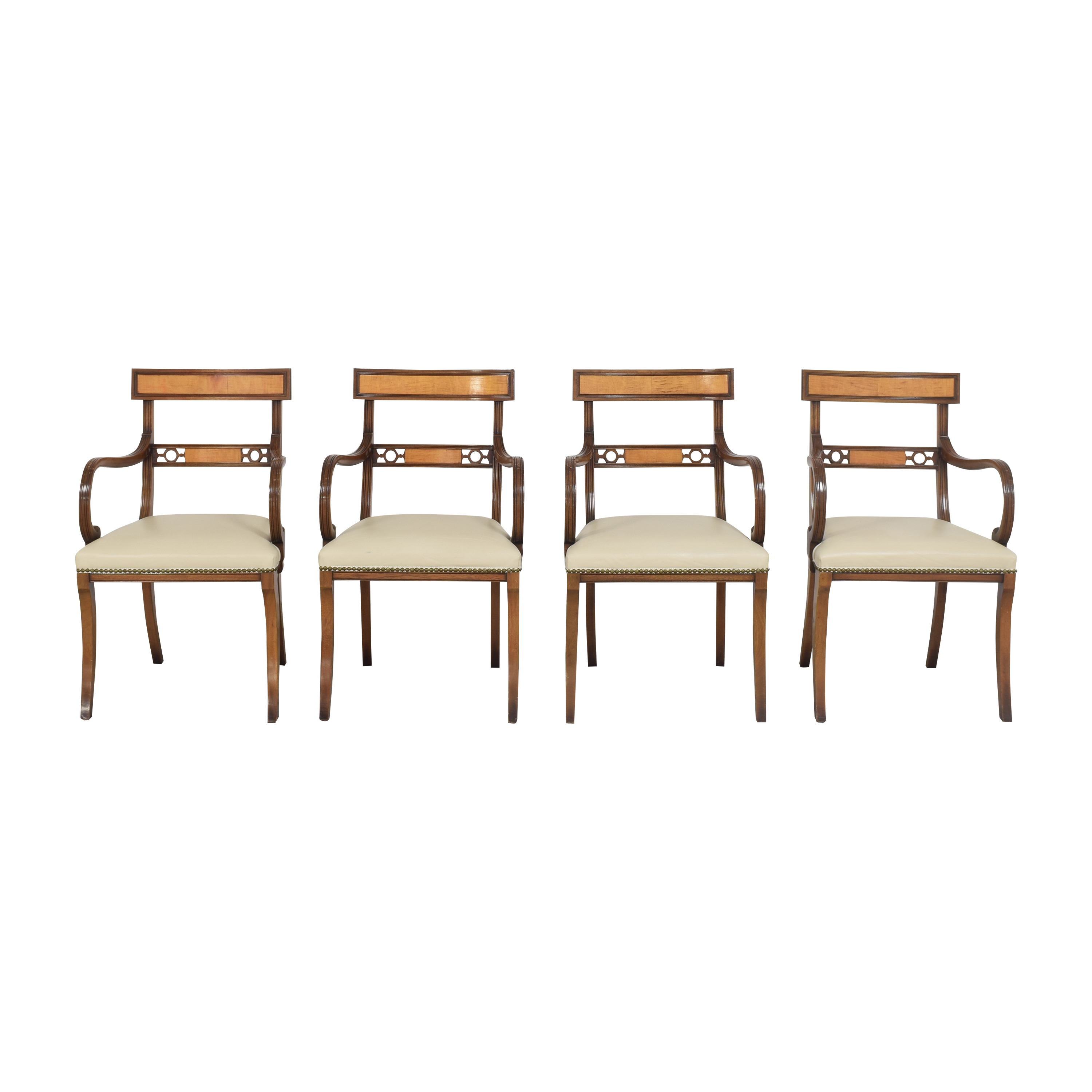 Upholstered Nailhead Dining Chairs ct