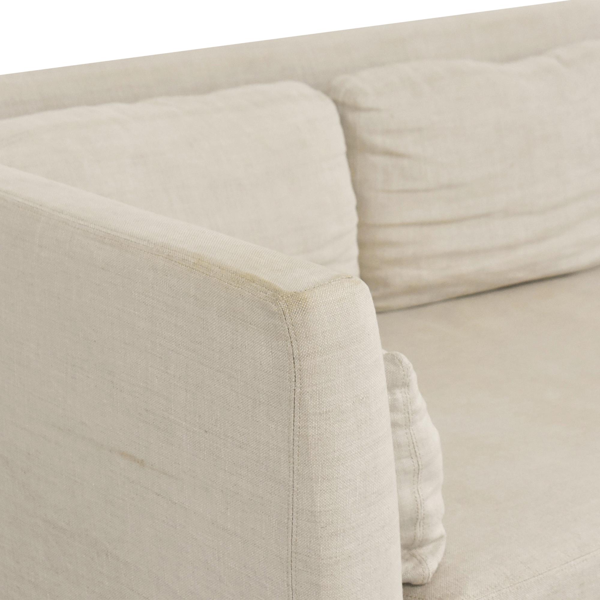 Restoration Hardware Restoration Hardware Belgian Shelter Arm Slipcovered Sofa Classic Sofas