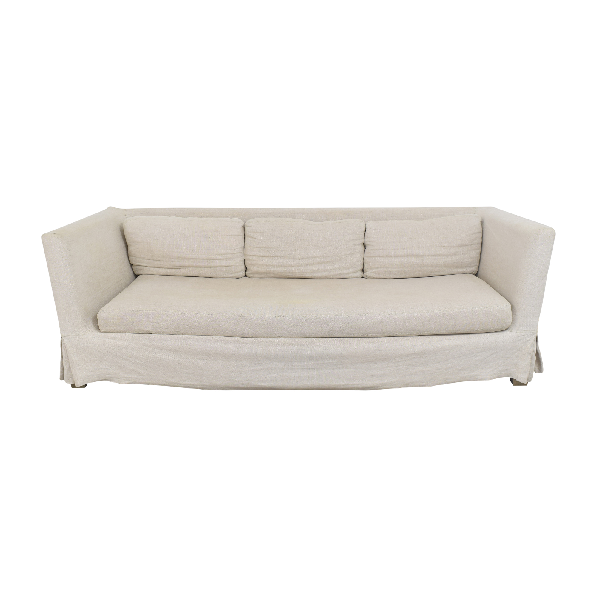 shop Restoration Hardware Belgian Shelter Arm Slipcovered Sofa Restoration Hardware