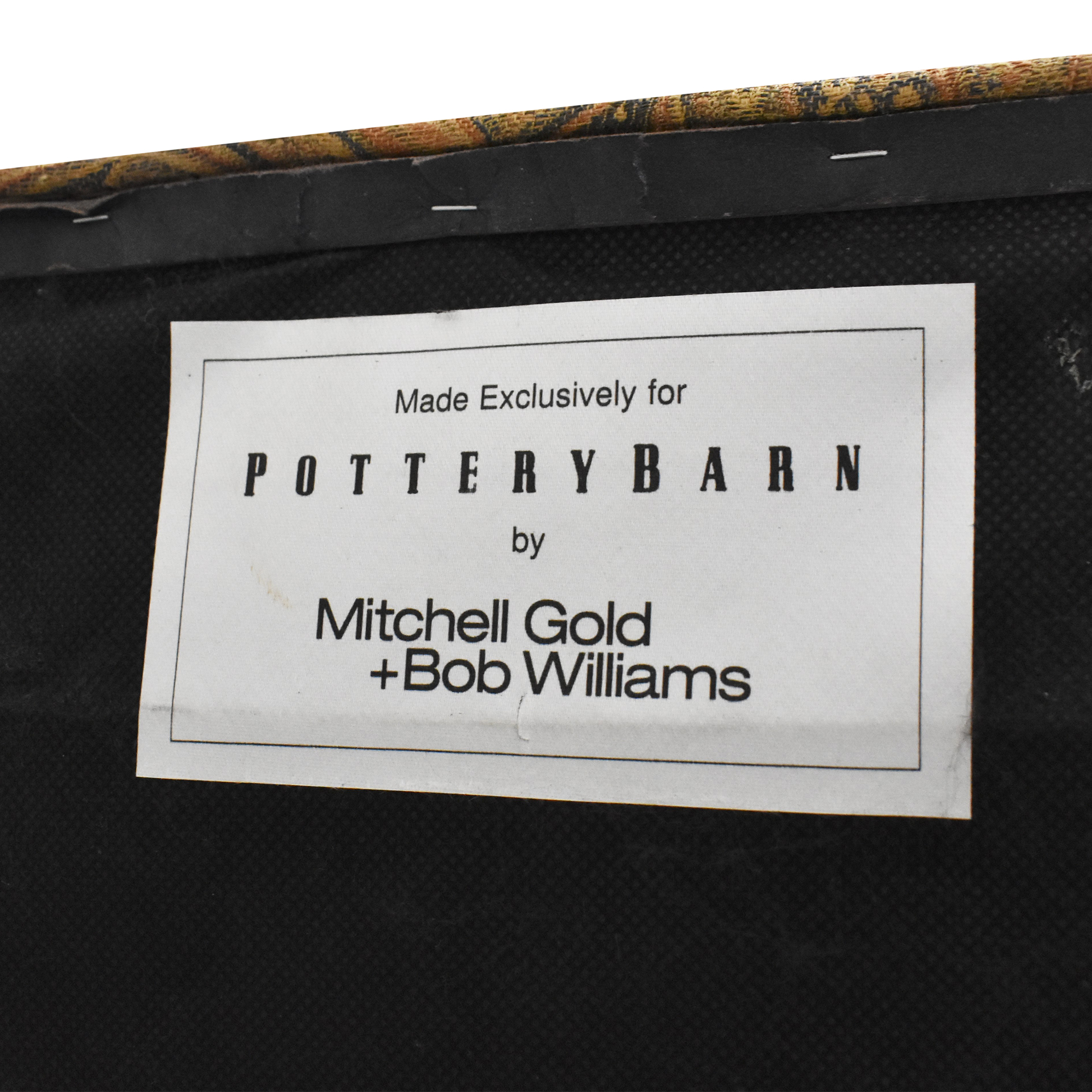 Pottery Barn Pottery Barn Tufted Paisley Ottoman by Mitchell Gold + Bob Williams ct