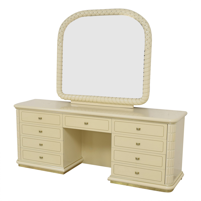 Vintage Vanity Dresser with Mirror nj