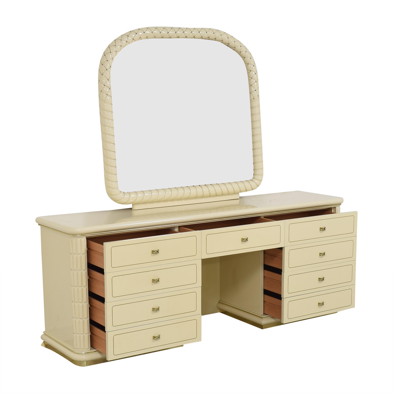 Vintage Vanity Dresser with Mirror pa