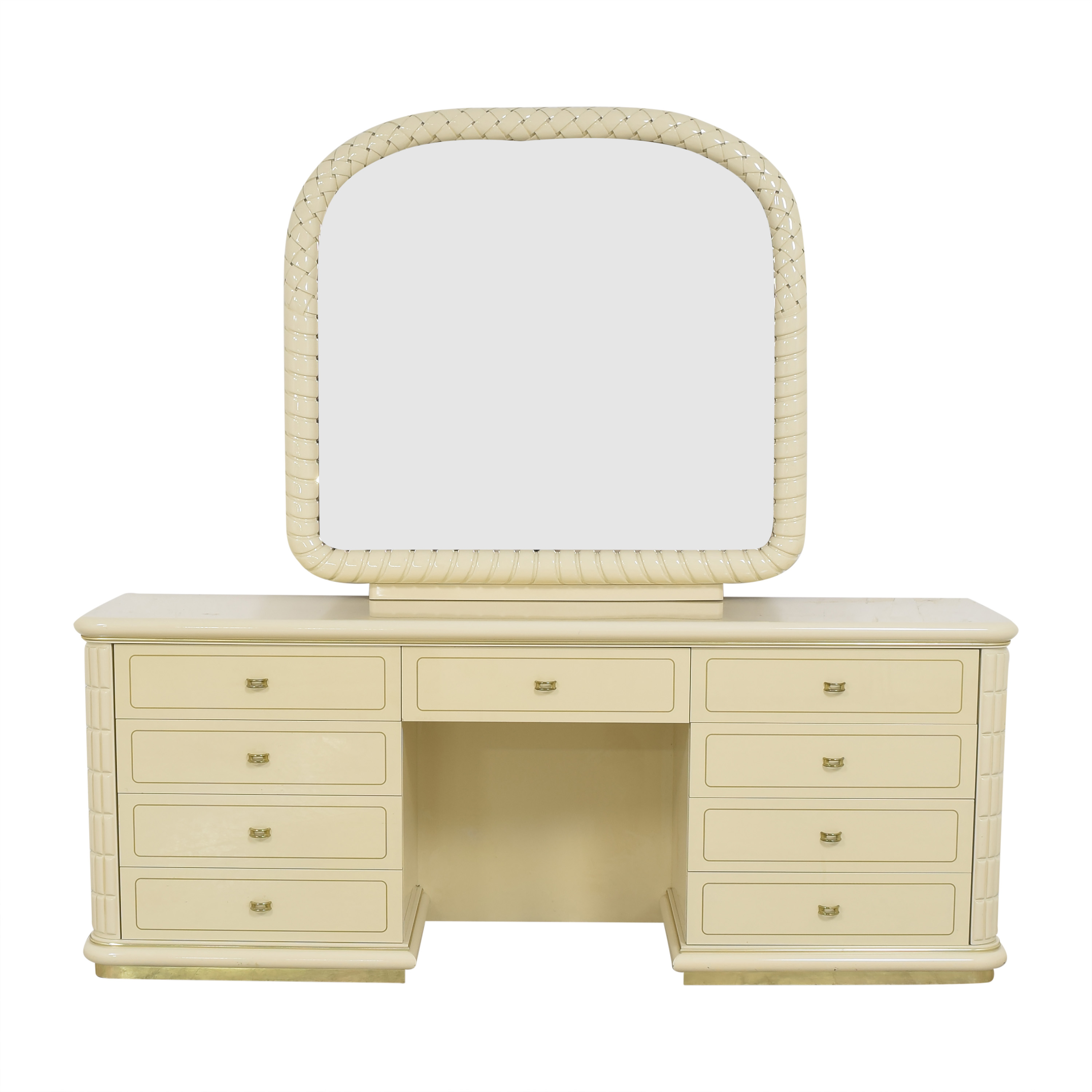 Vintage Vanity Dresser with Mirror / Storage