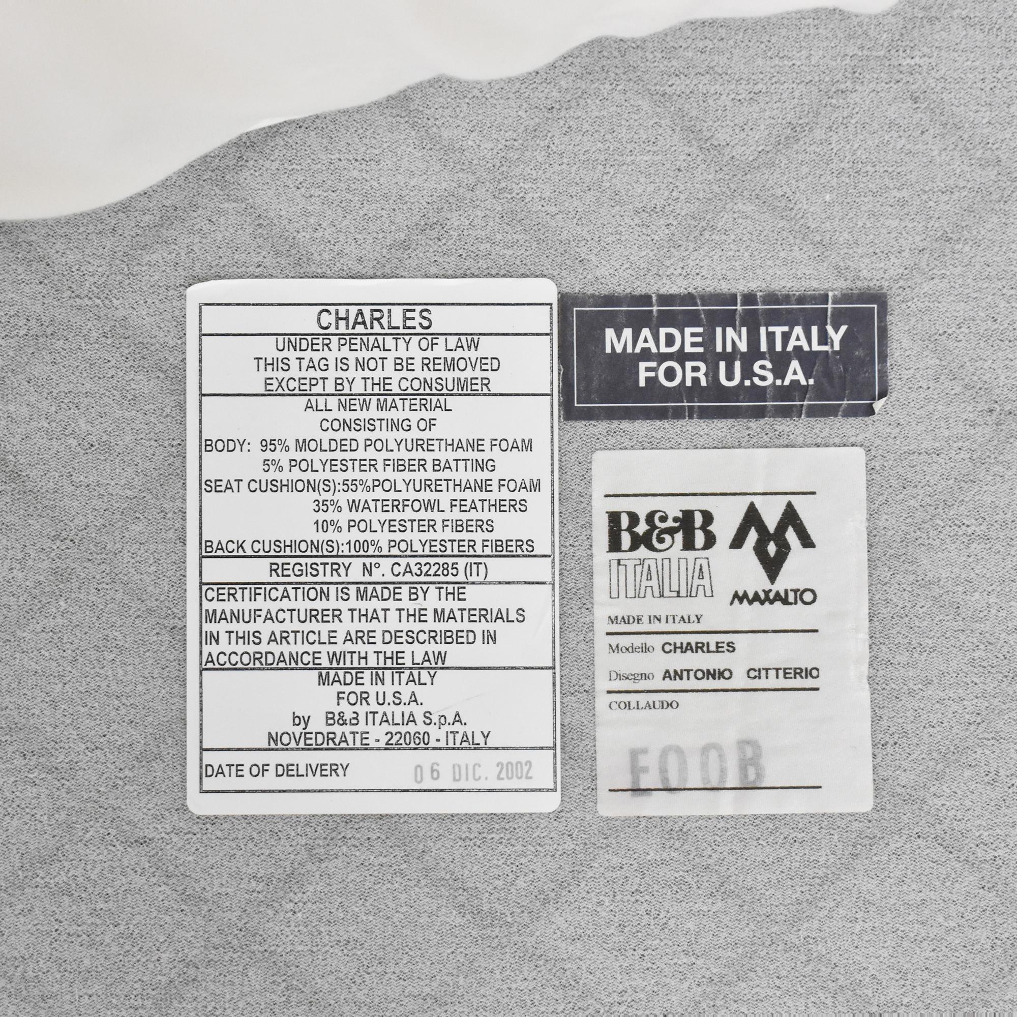 B&B Italia Charles Sofa / Classic Sofas