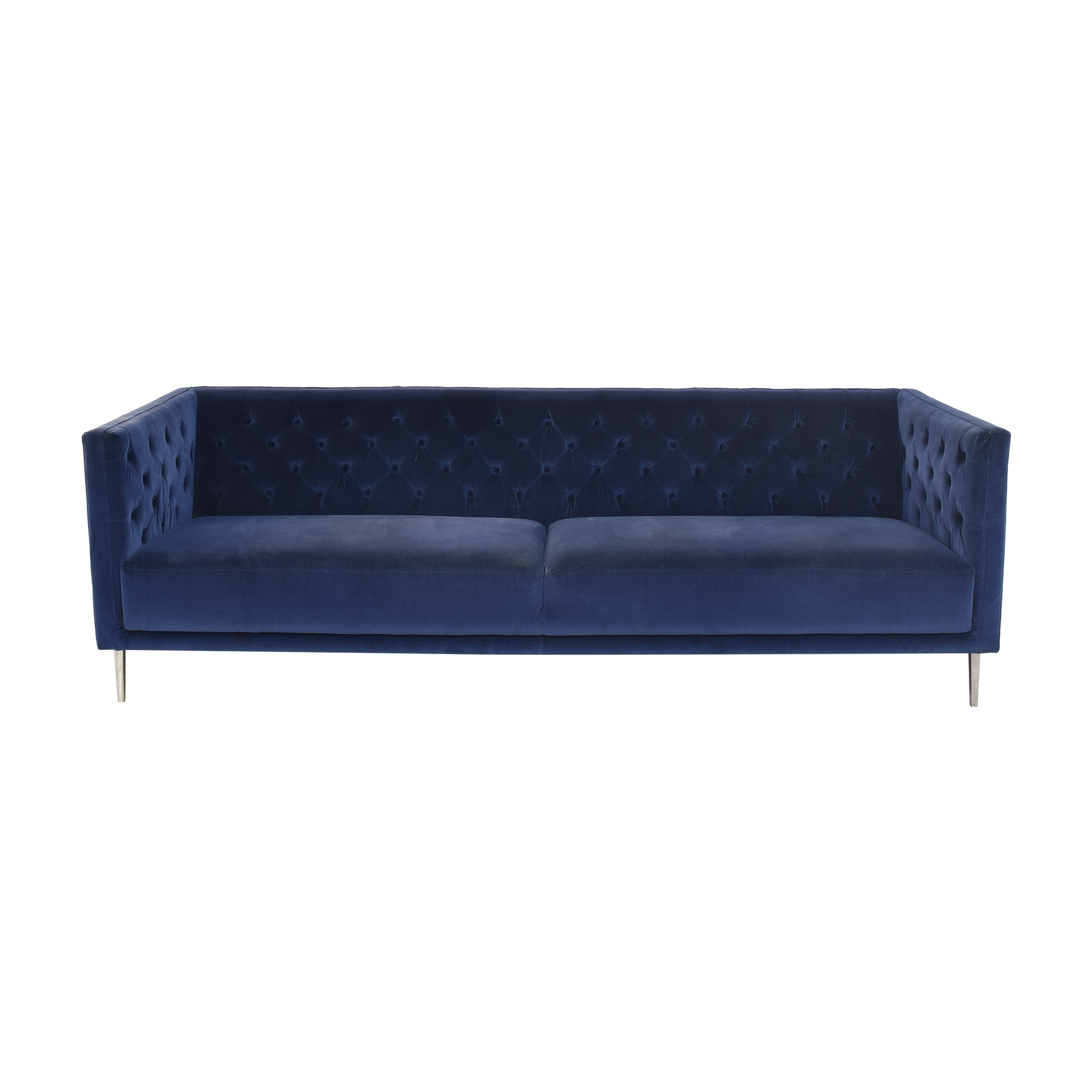 CB2 CB2 Savile Tufted Sofa blue