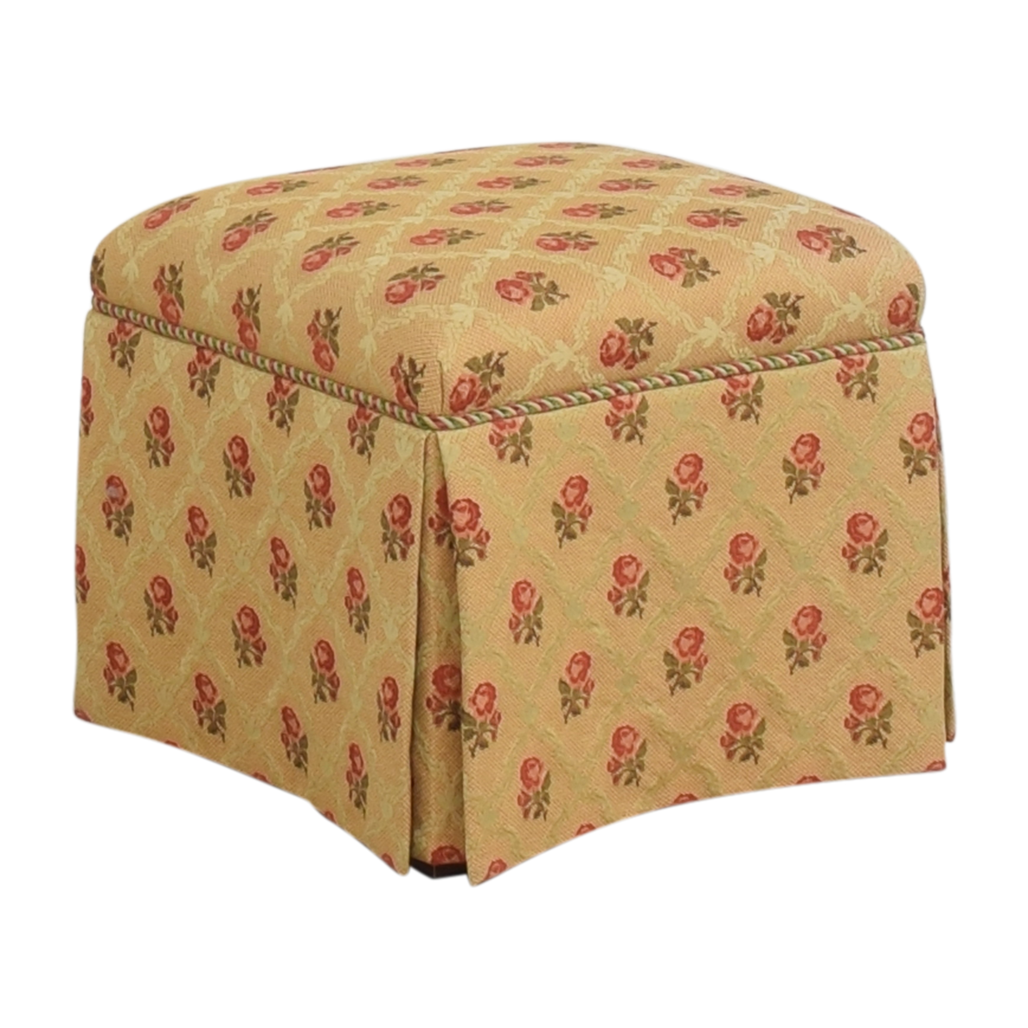 Skirted Square Ottoman second hand
