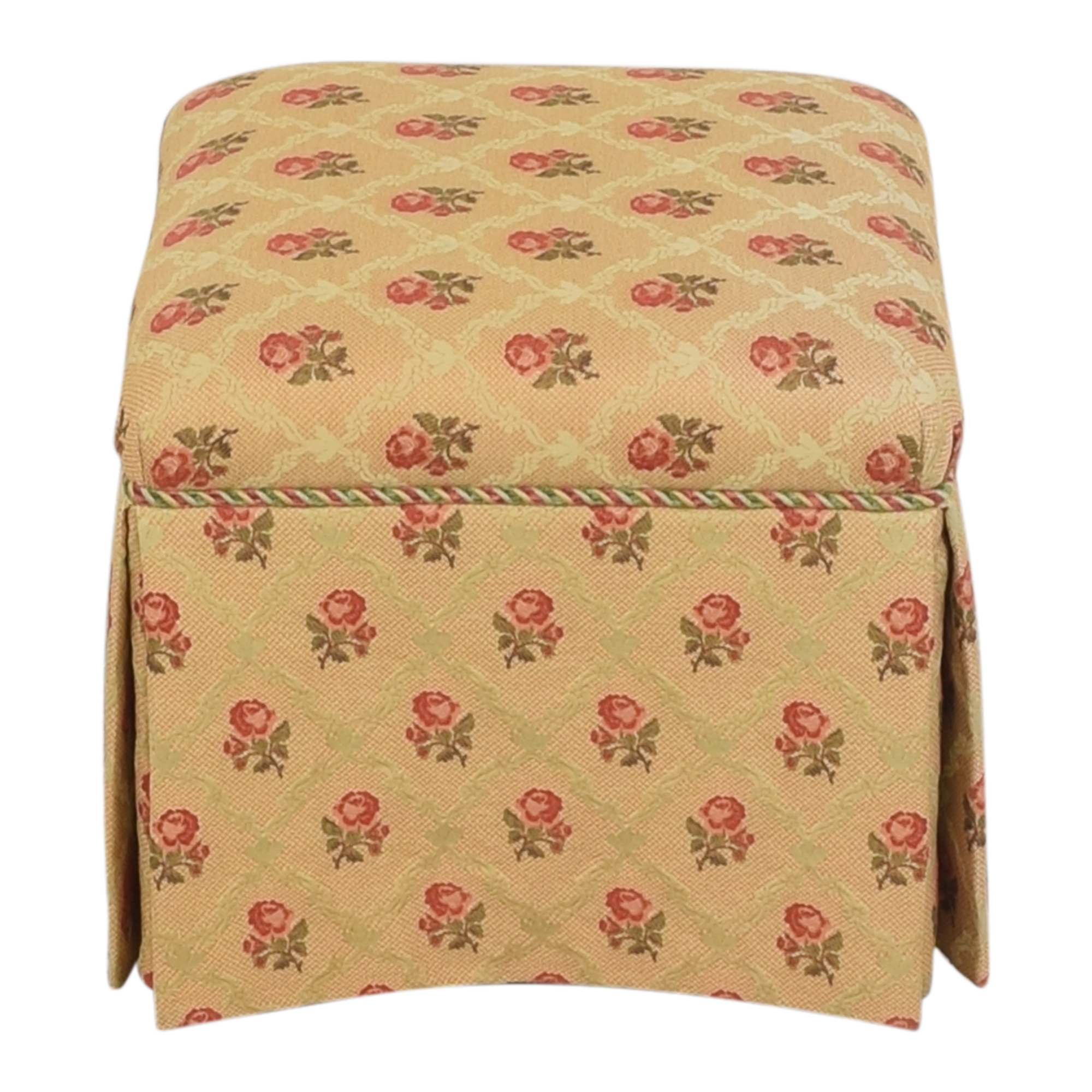 Skirted Square Ottoman / Chairs