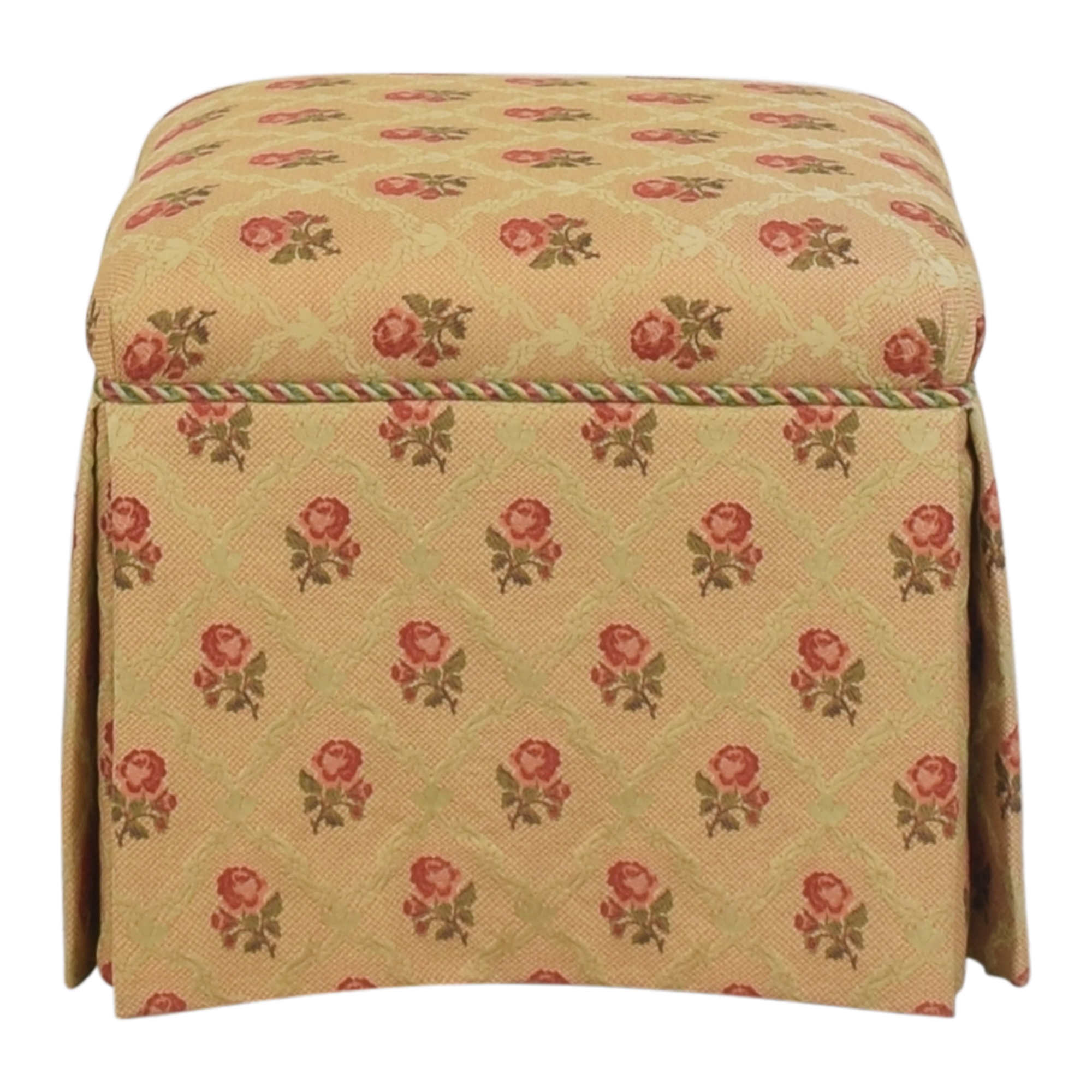 Skirted Square Ottoman used