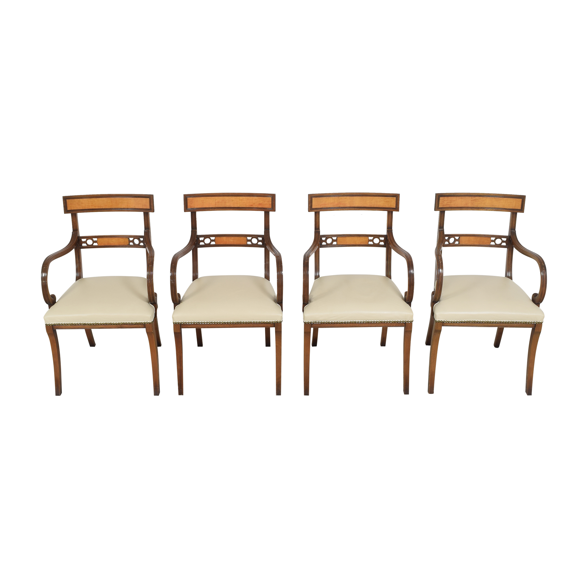 shop Upholstered Nailhead Dining Chairs   Chairs