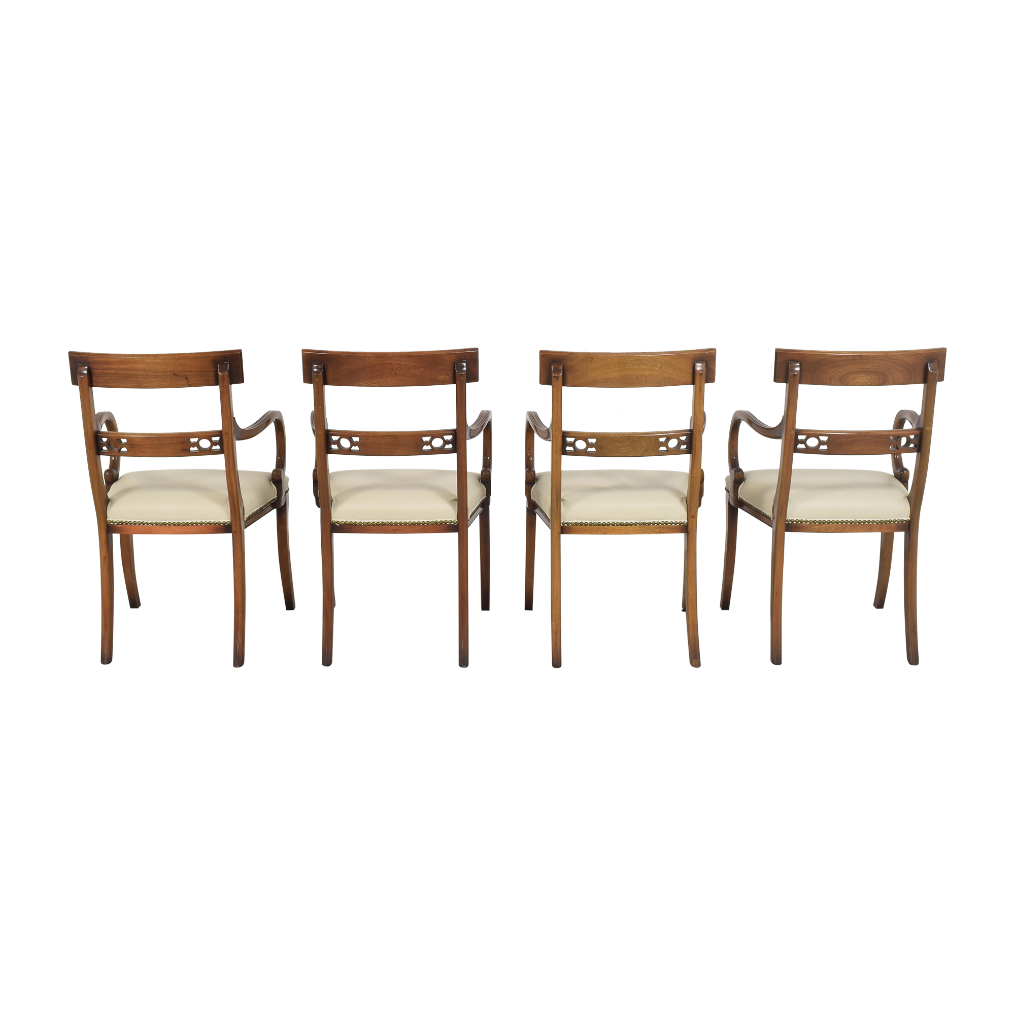 Upholstered Nailhead Dining Chairs  ma