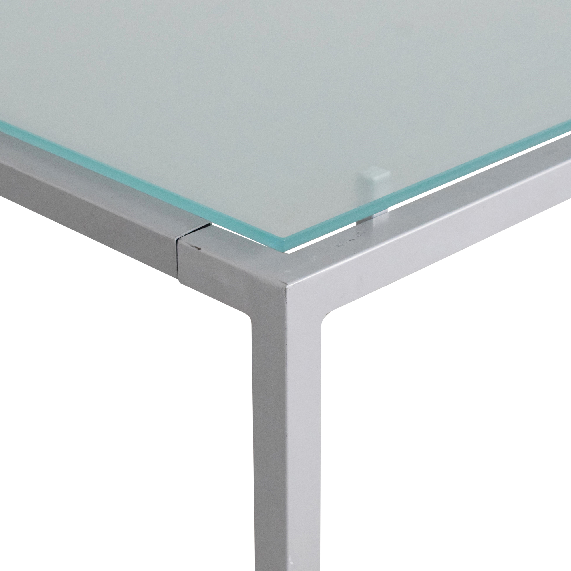 buy Design Within Reach Frost Glass Desk Design Within Reach Tables