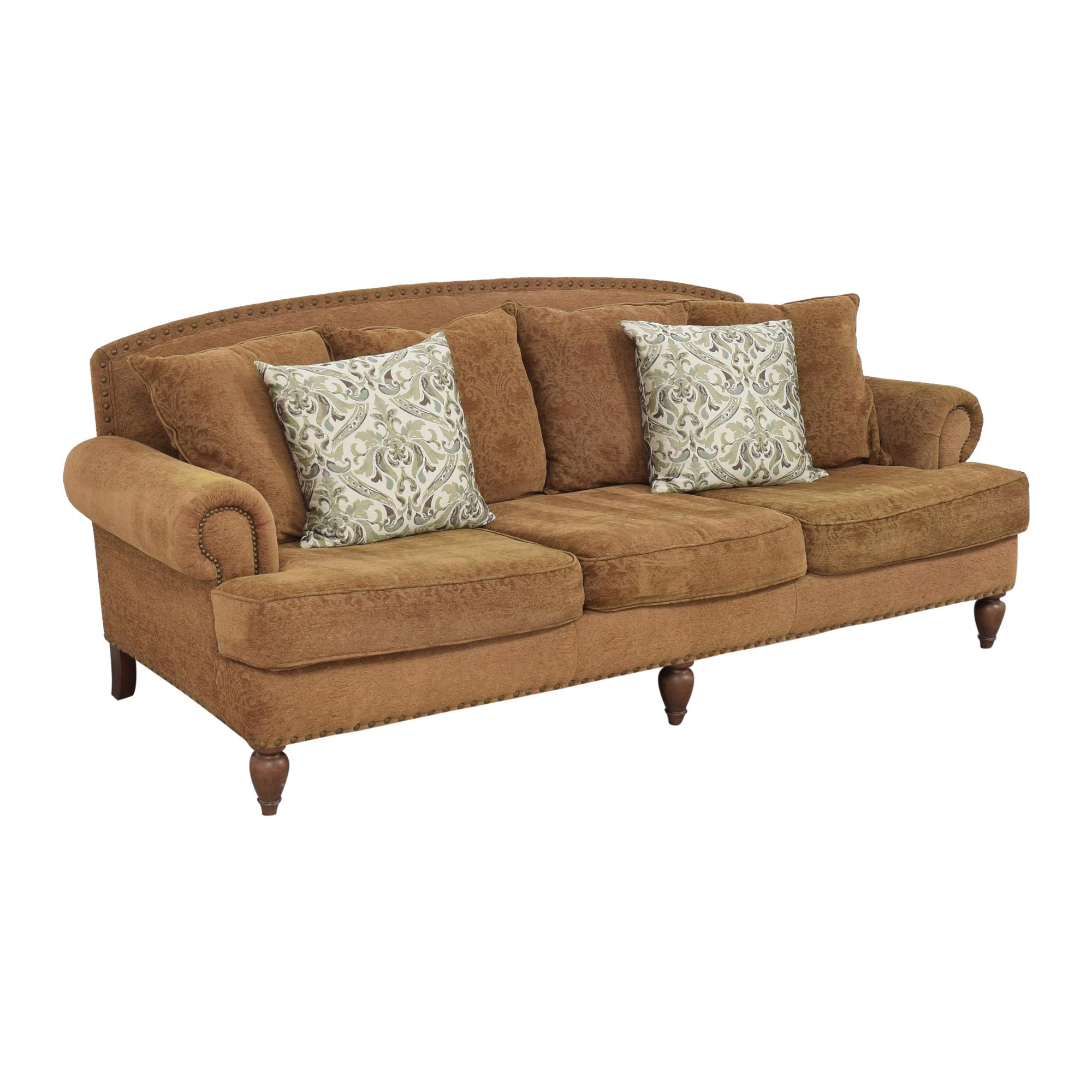 Bernhardt Bernhardt Three Cushion Roll Arm Sofa ma