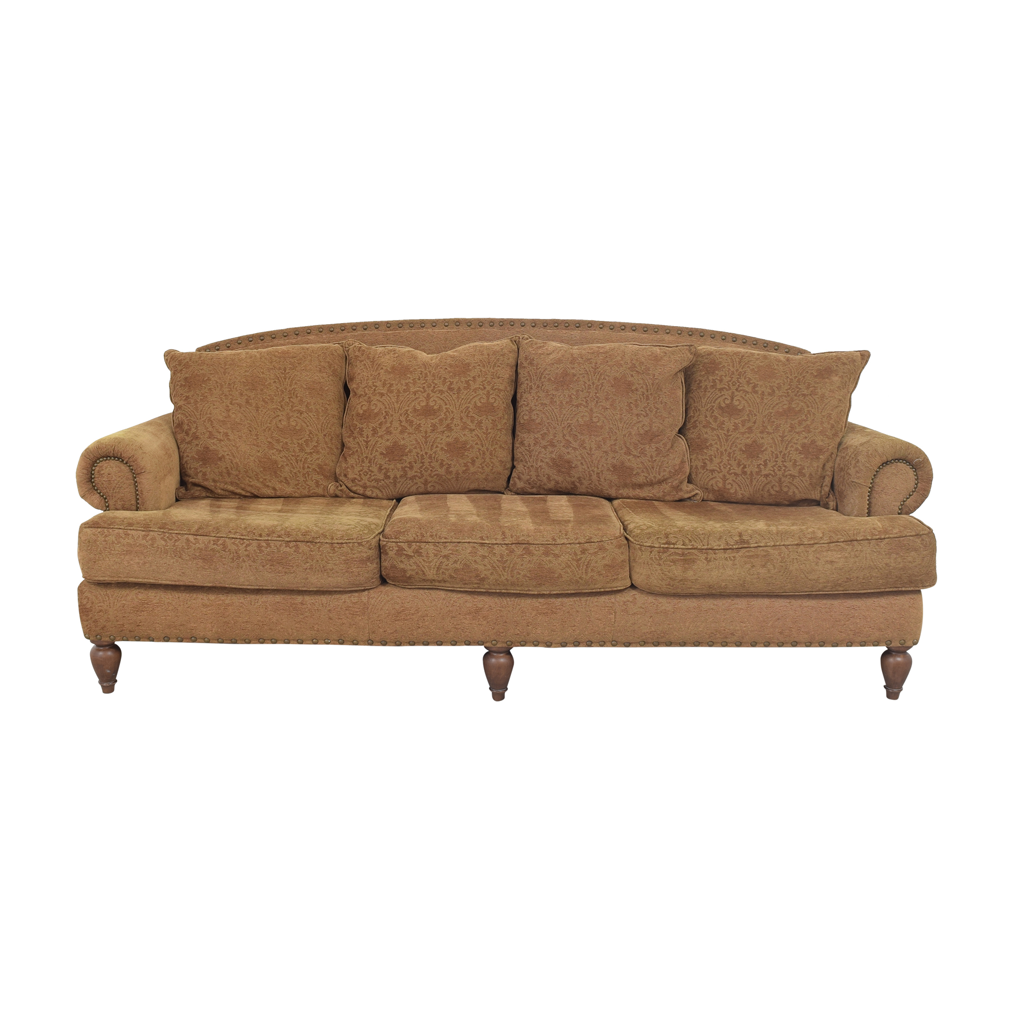 shop Bernhardt Three Cushion Roll Arm Sofa Bernhardt Sofas