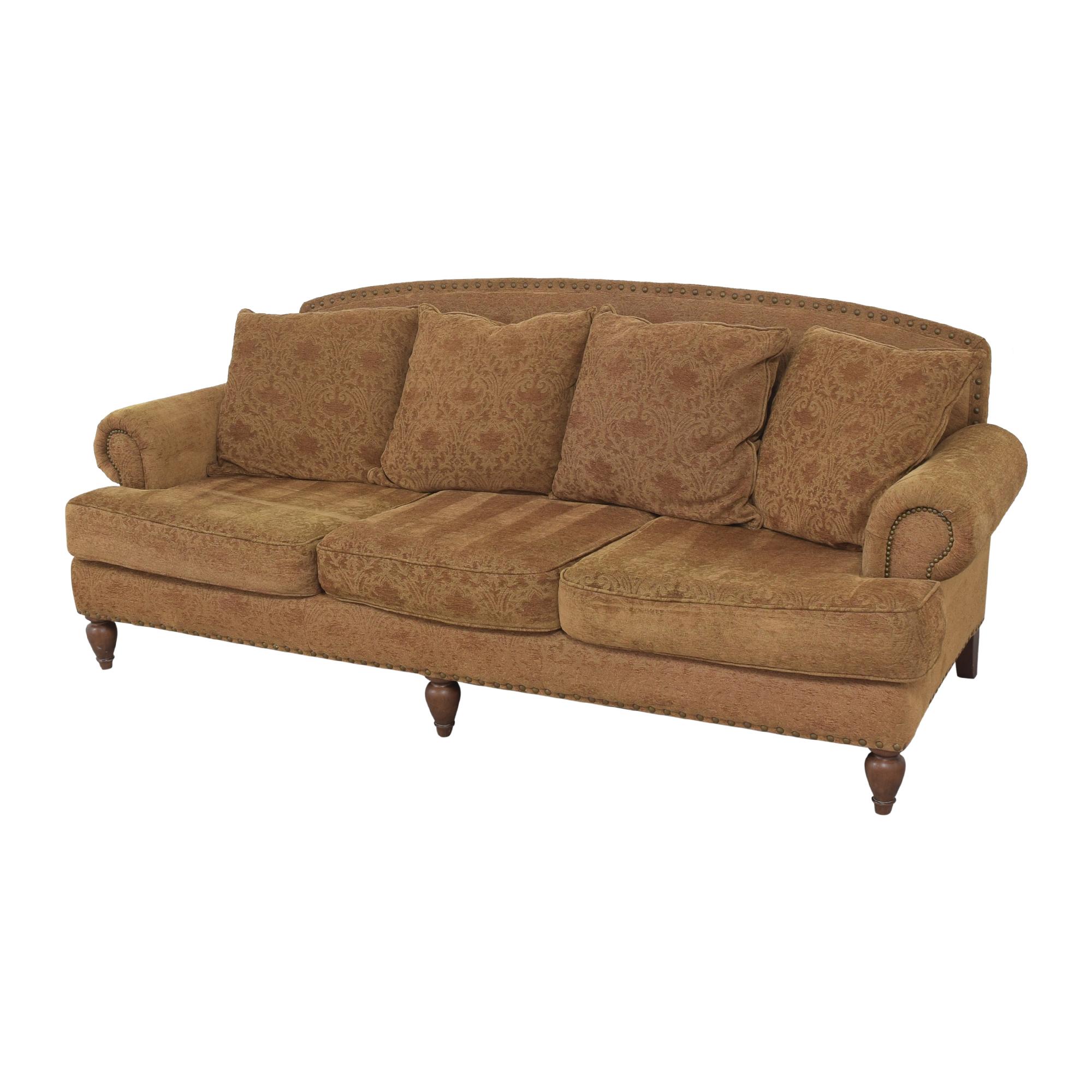 Bernhardt Bernhardt Three Cushion Roll Arm Sofa pa