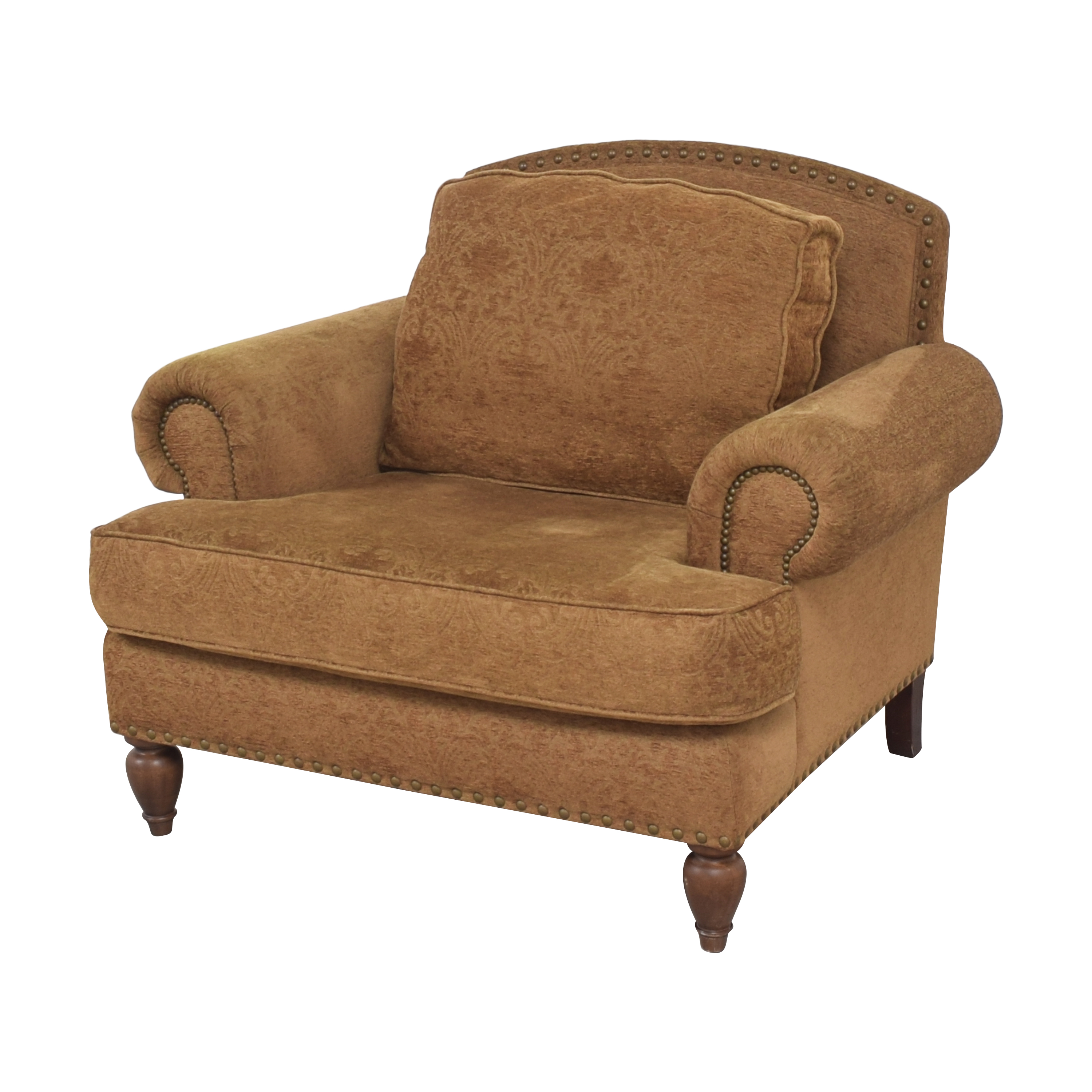 buy Bernhardt Roll Arm Club Chair Bernhardt