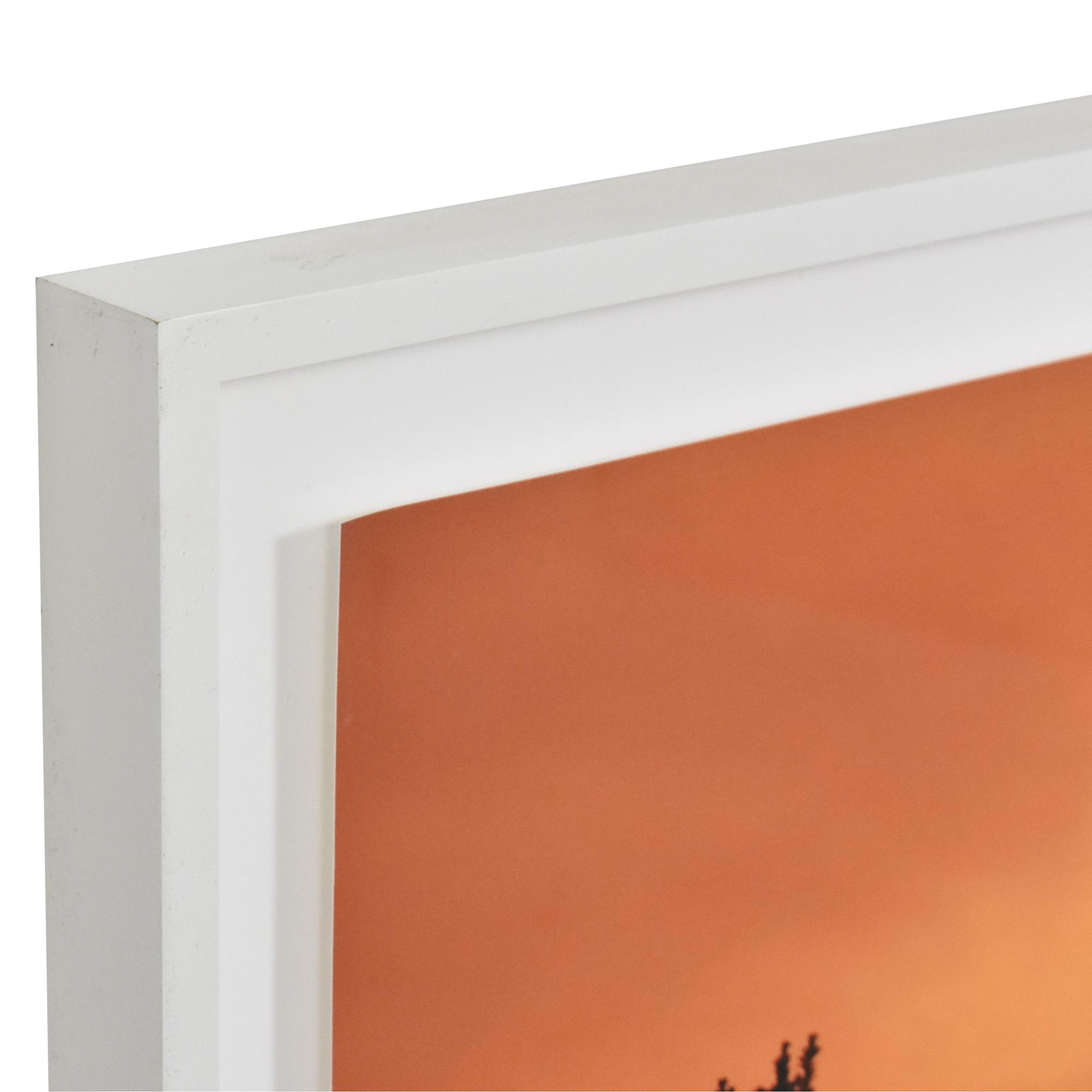 Sunset Photograph Framed Wall Art dimensions