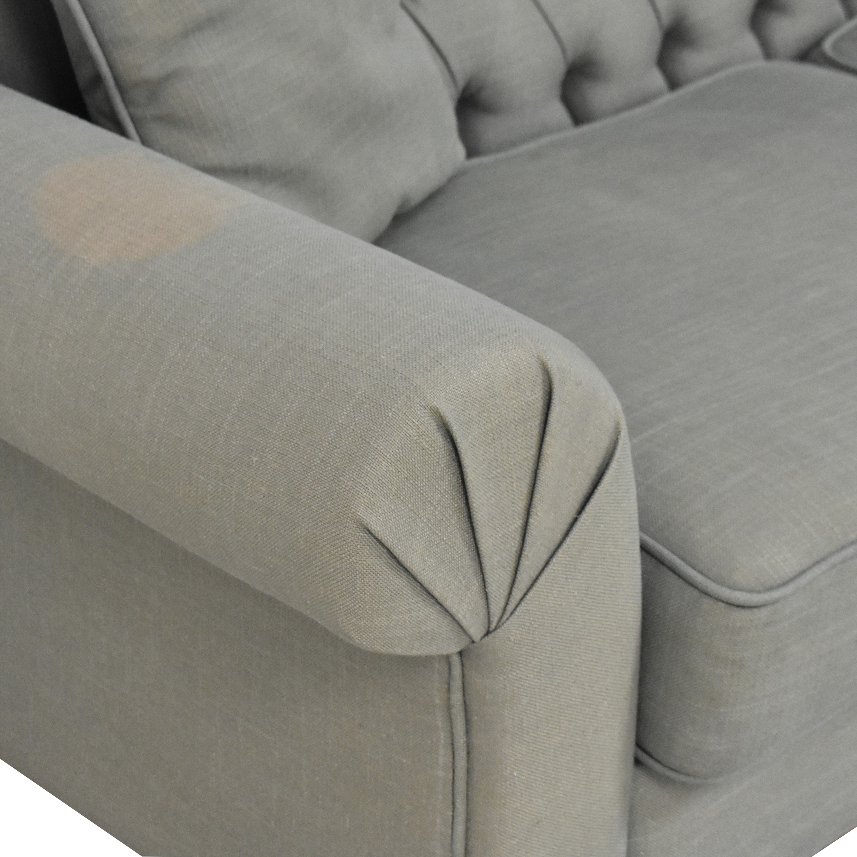 ABC Carpet & Home Tufted Roll Arm Sofa ABC Carpet & Home