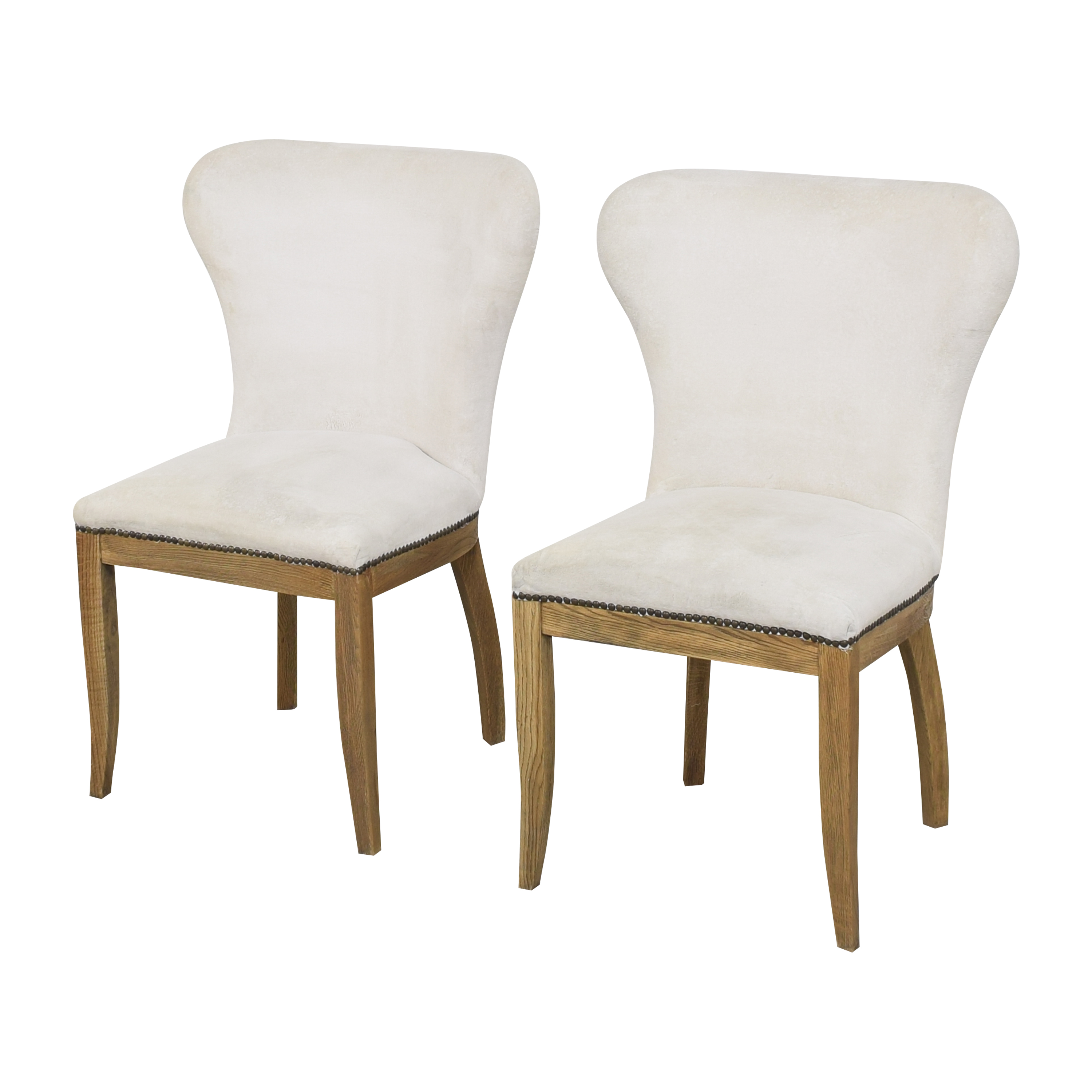 Restoration Hardware Restoration Hardware Upholstered Dining Chairs second hand
