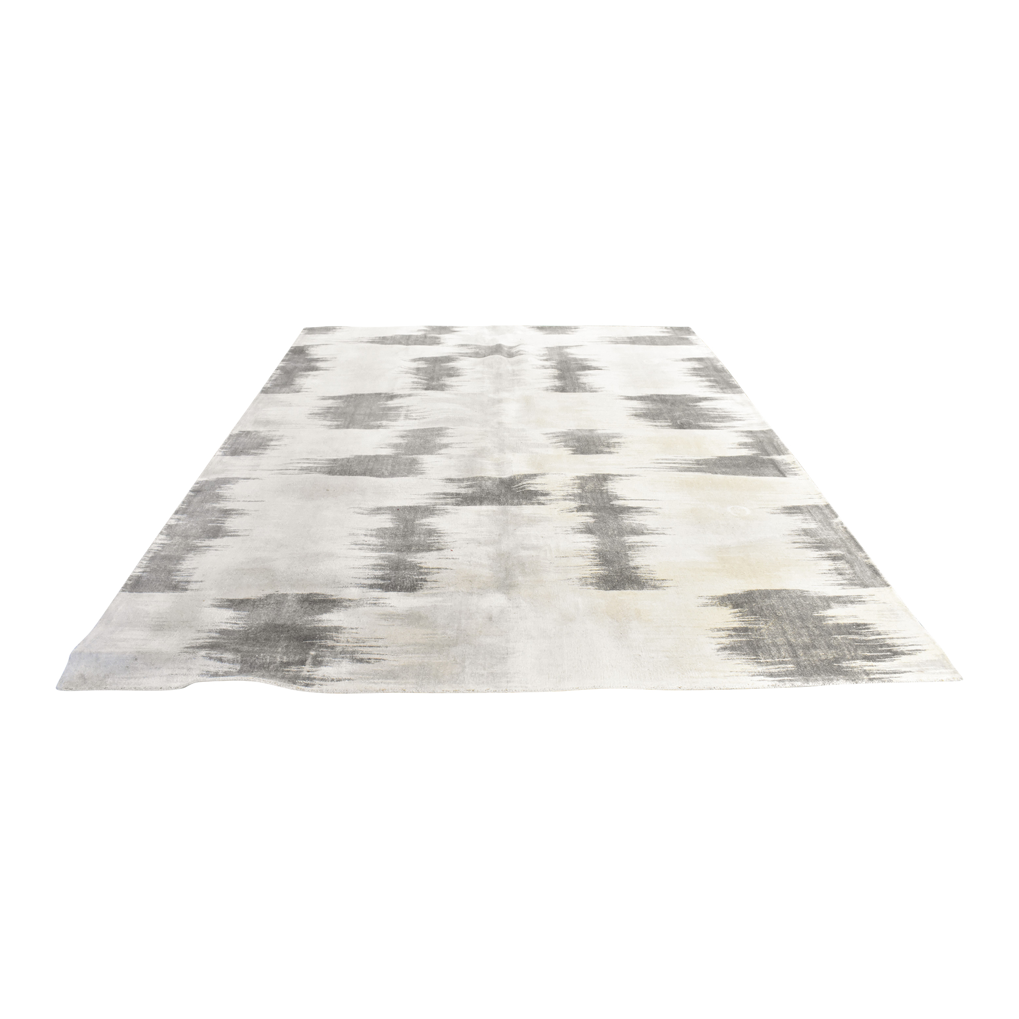 West Elm West Elm Painted Ikat Rug second hand