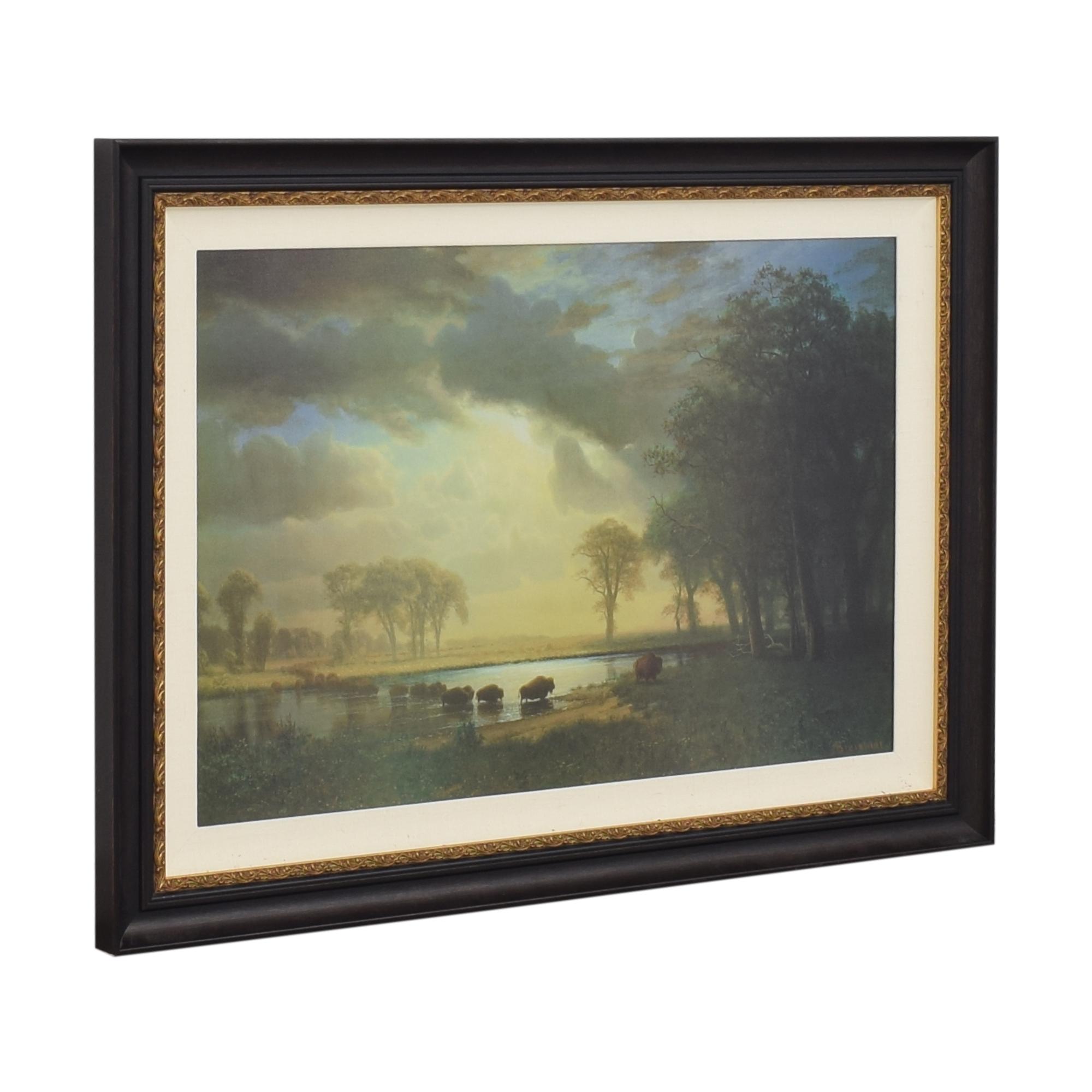The Buffalo Trail by Albert Bierstadt Framed Wall Art price