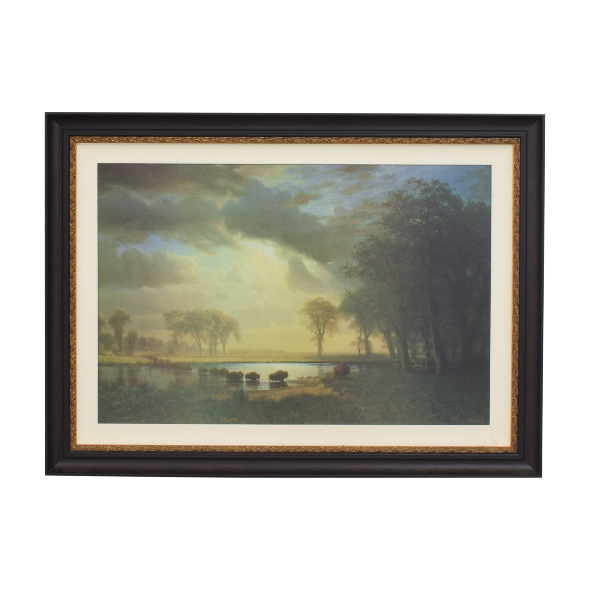 The Buffalo Trail by Albert Bierstadt Framed Wall Art price