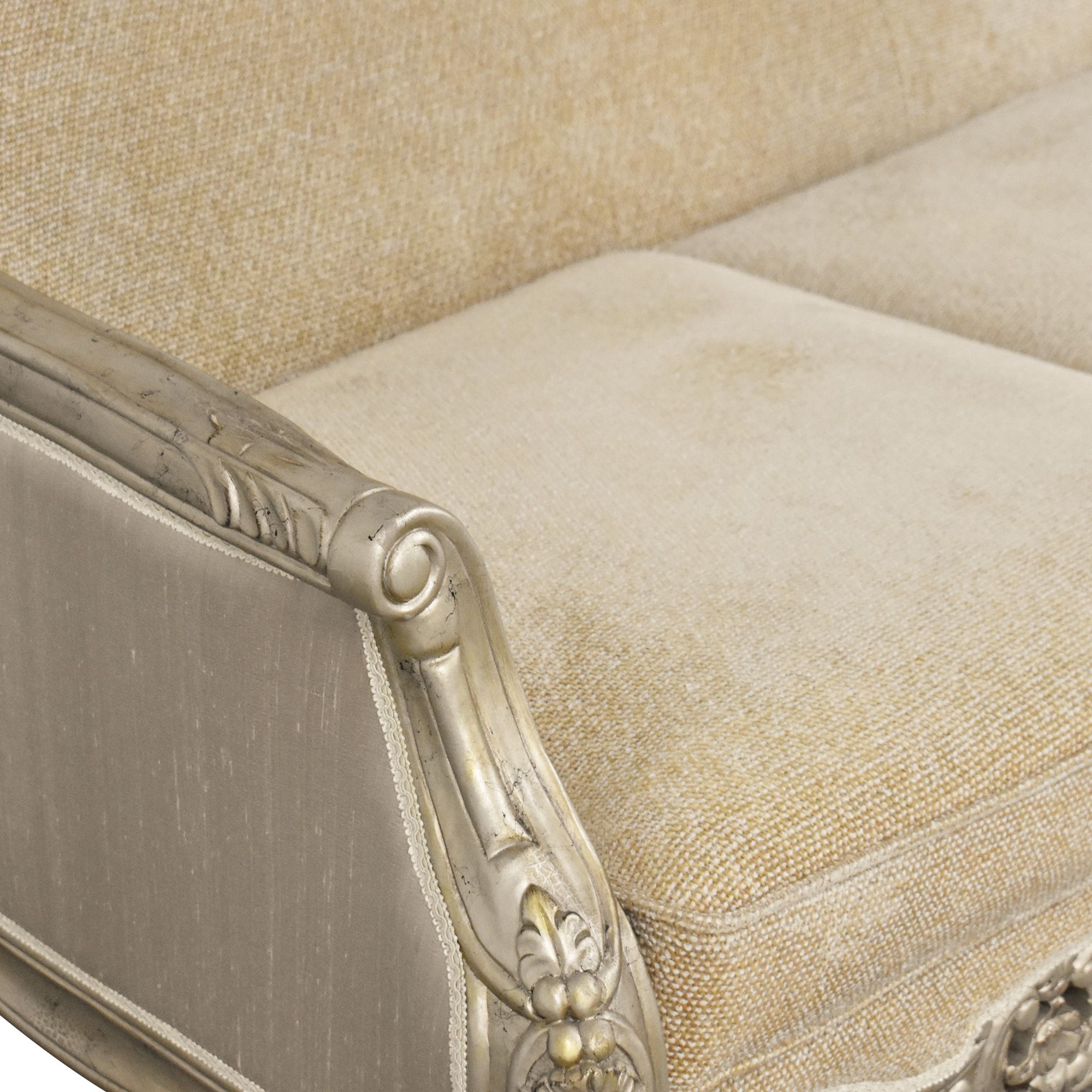 Country French-Style Three Cushion Sofa pa