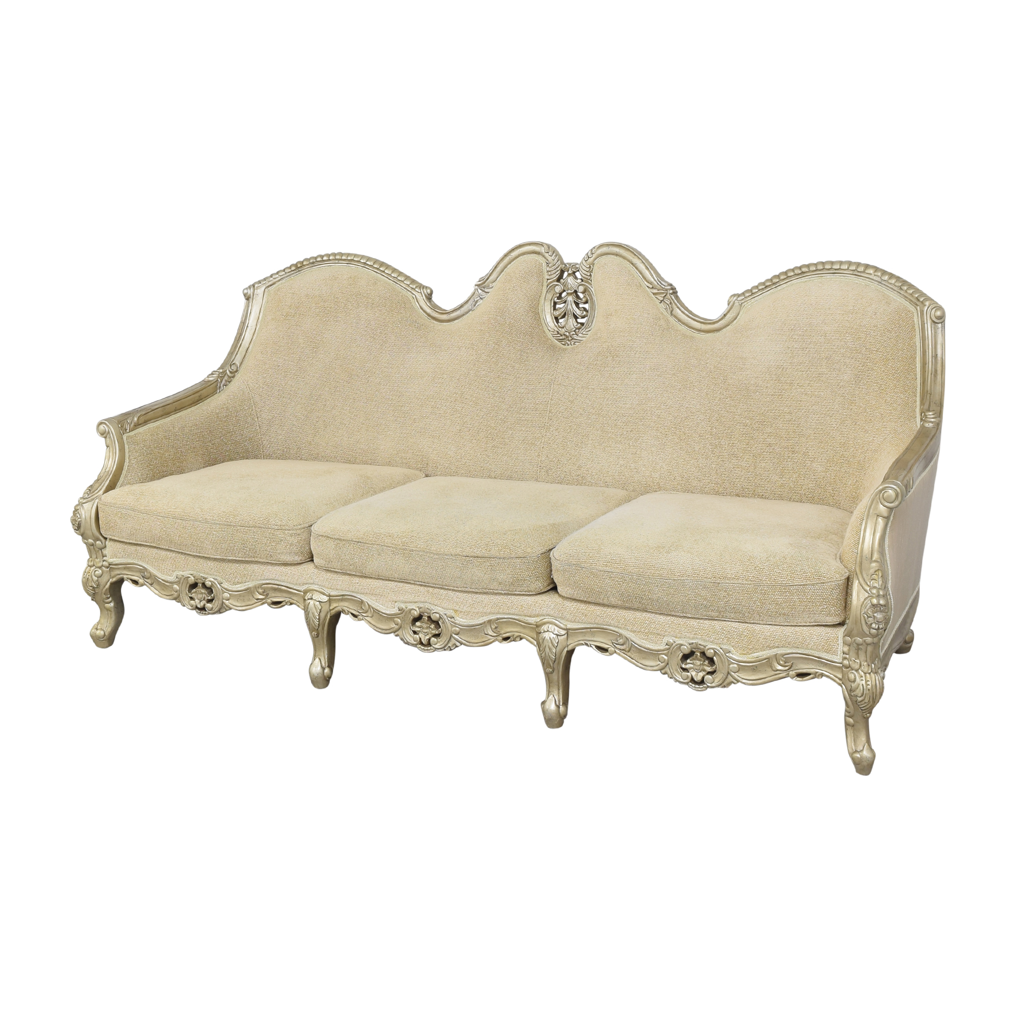 buy  Country French-Style Three Cushion Sofa online