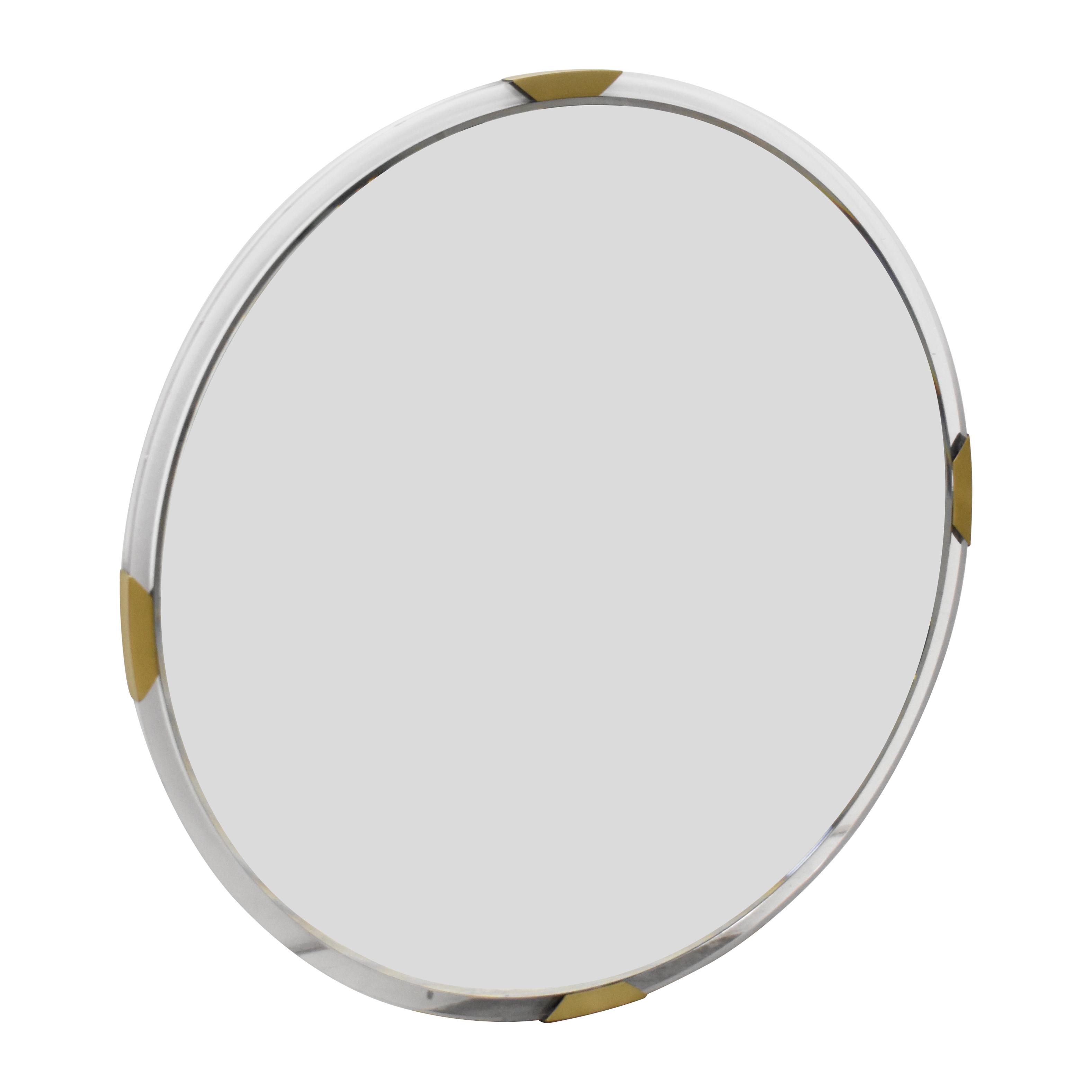 buy CB2 Demi Acrylic Round Mirror CB2 Decor