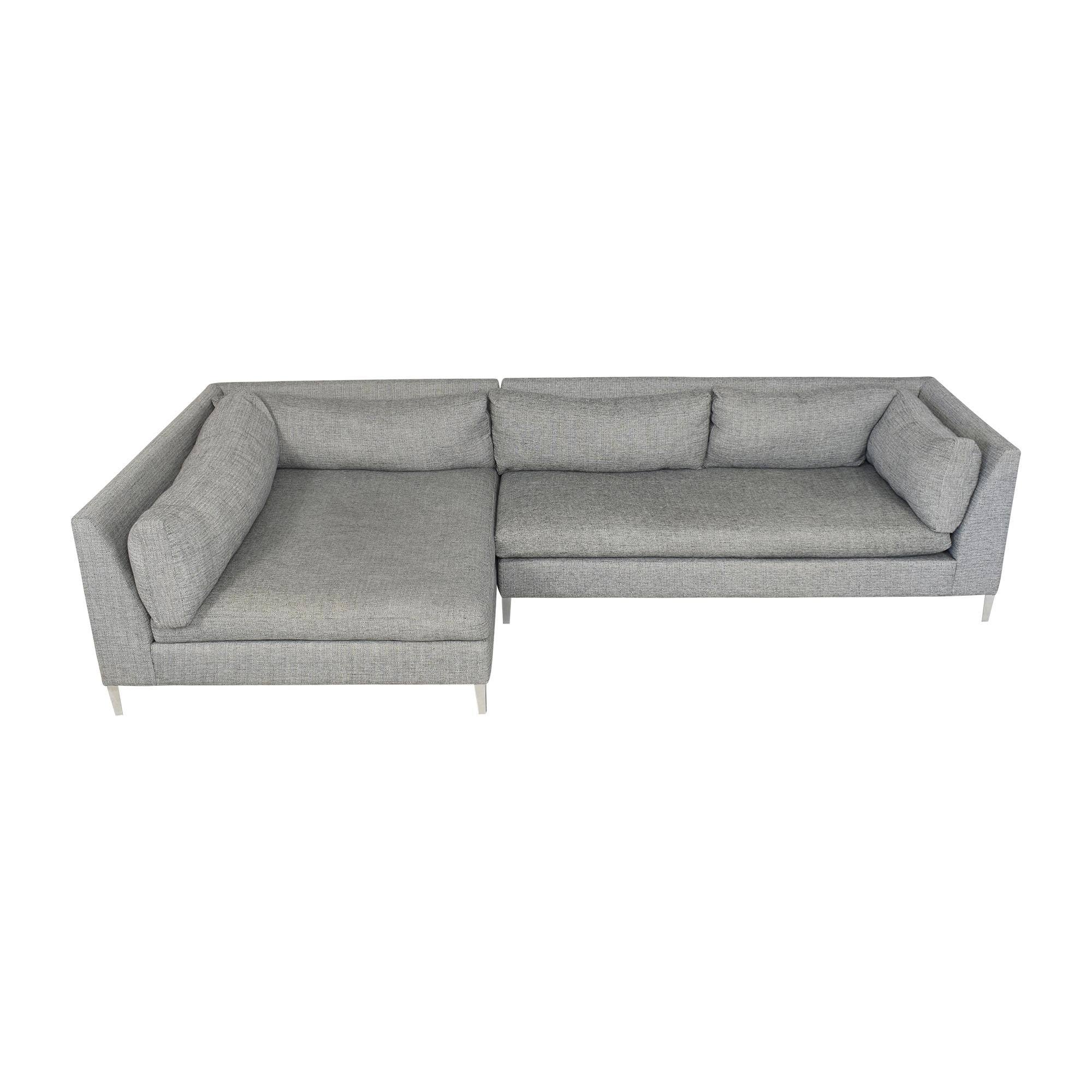 CB2 Decker Two Piece Sectional Sofa / Sofas