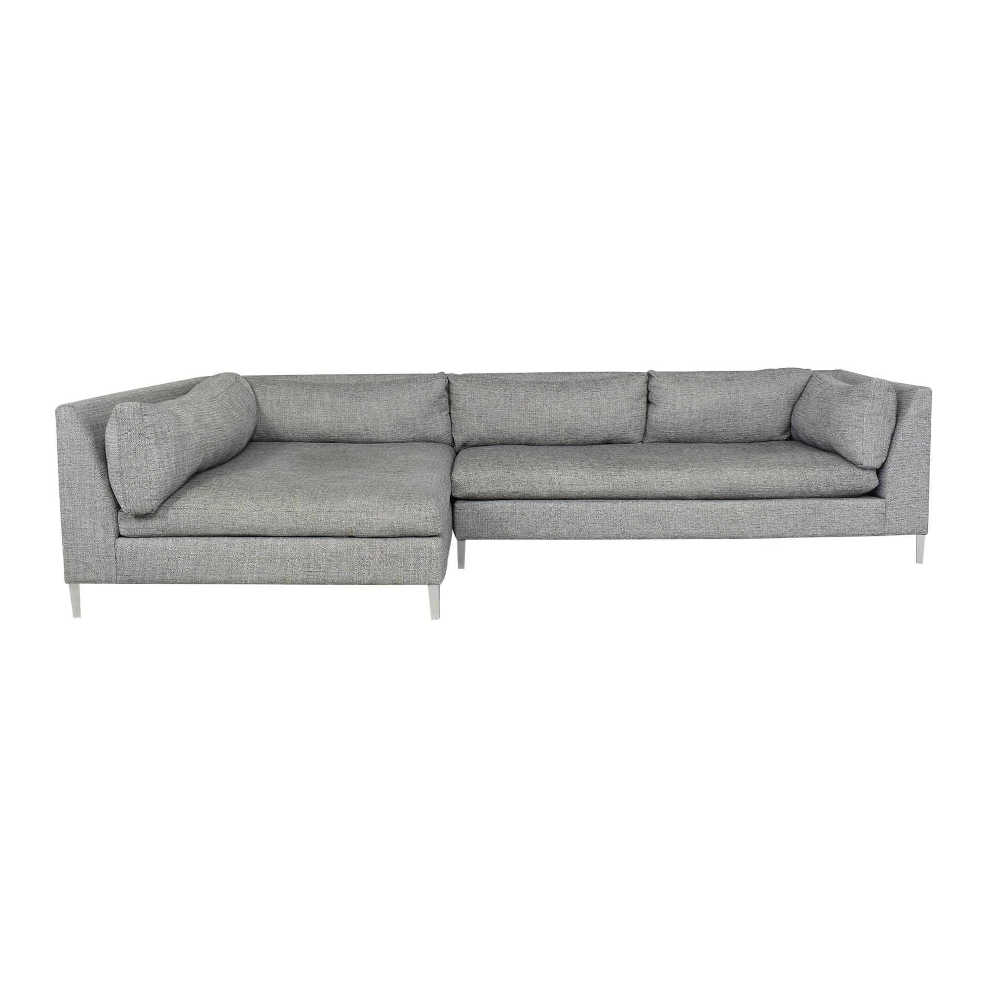 CB2 CB2 Decker Two Piece Sectional Sofa grey