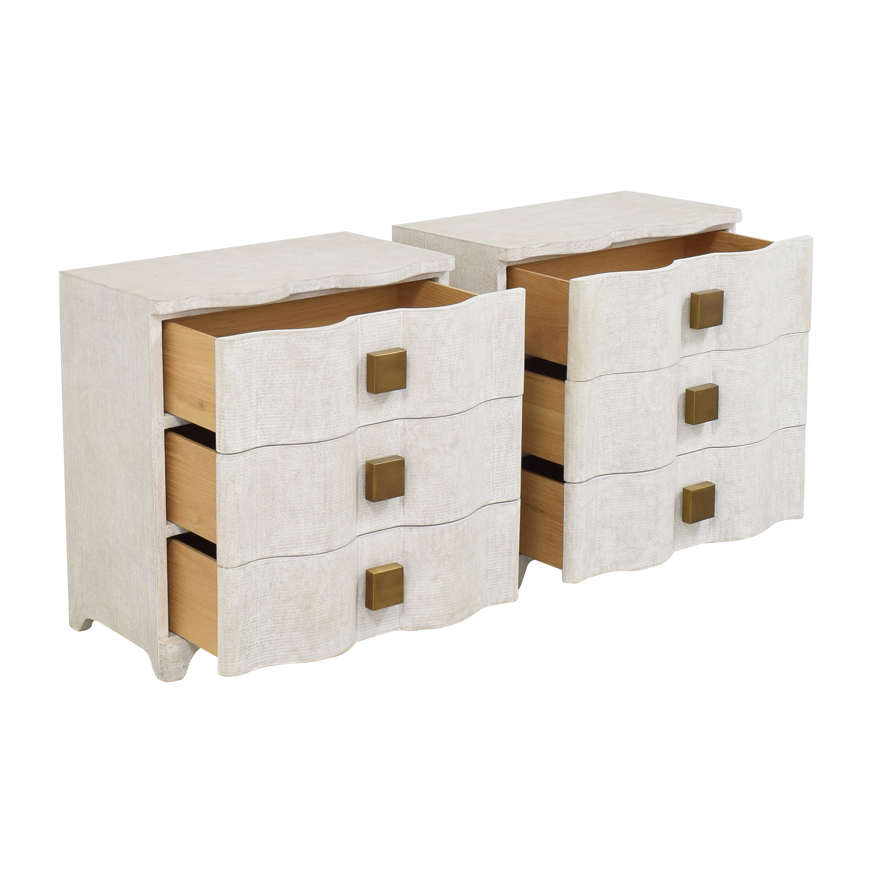 Global Views Global Views Studio A Toile Bedside Chests pa
